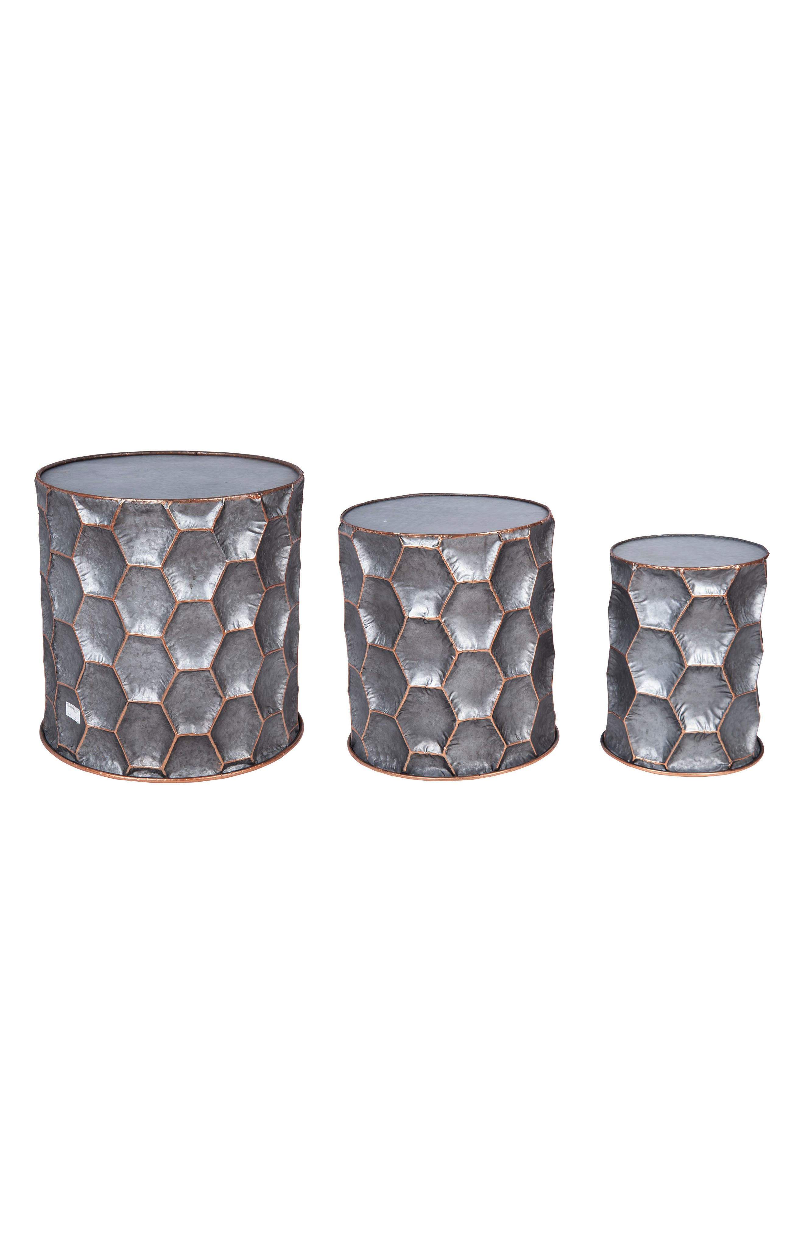 Alternate Image 1 Selected - Foreside Honeycomb Set of 3 Side Tables