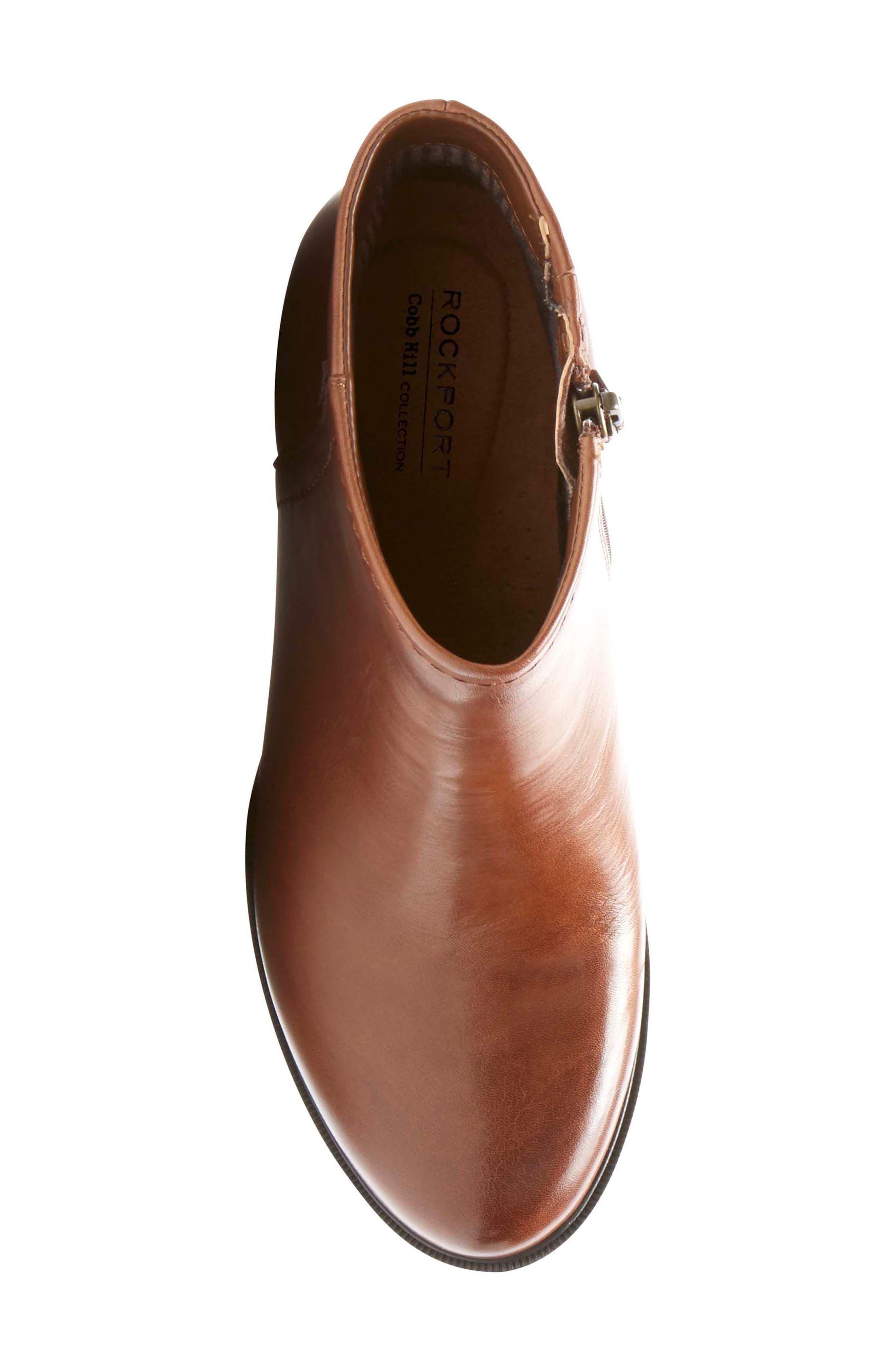 Natashya Bootie,                             Alternate thumbnail 5, color,                             Almond Leather
