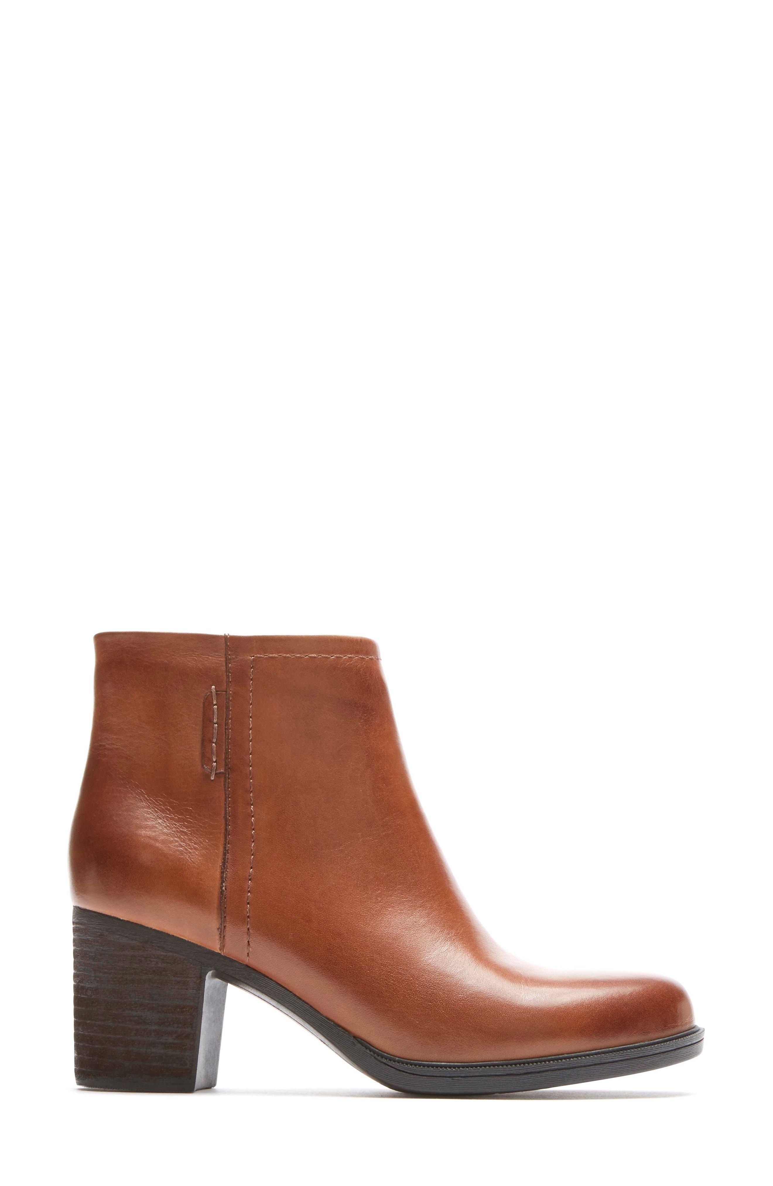 Natashya Bootie,                             Alternate thumbnail 3, color,                             Almond Leather