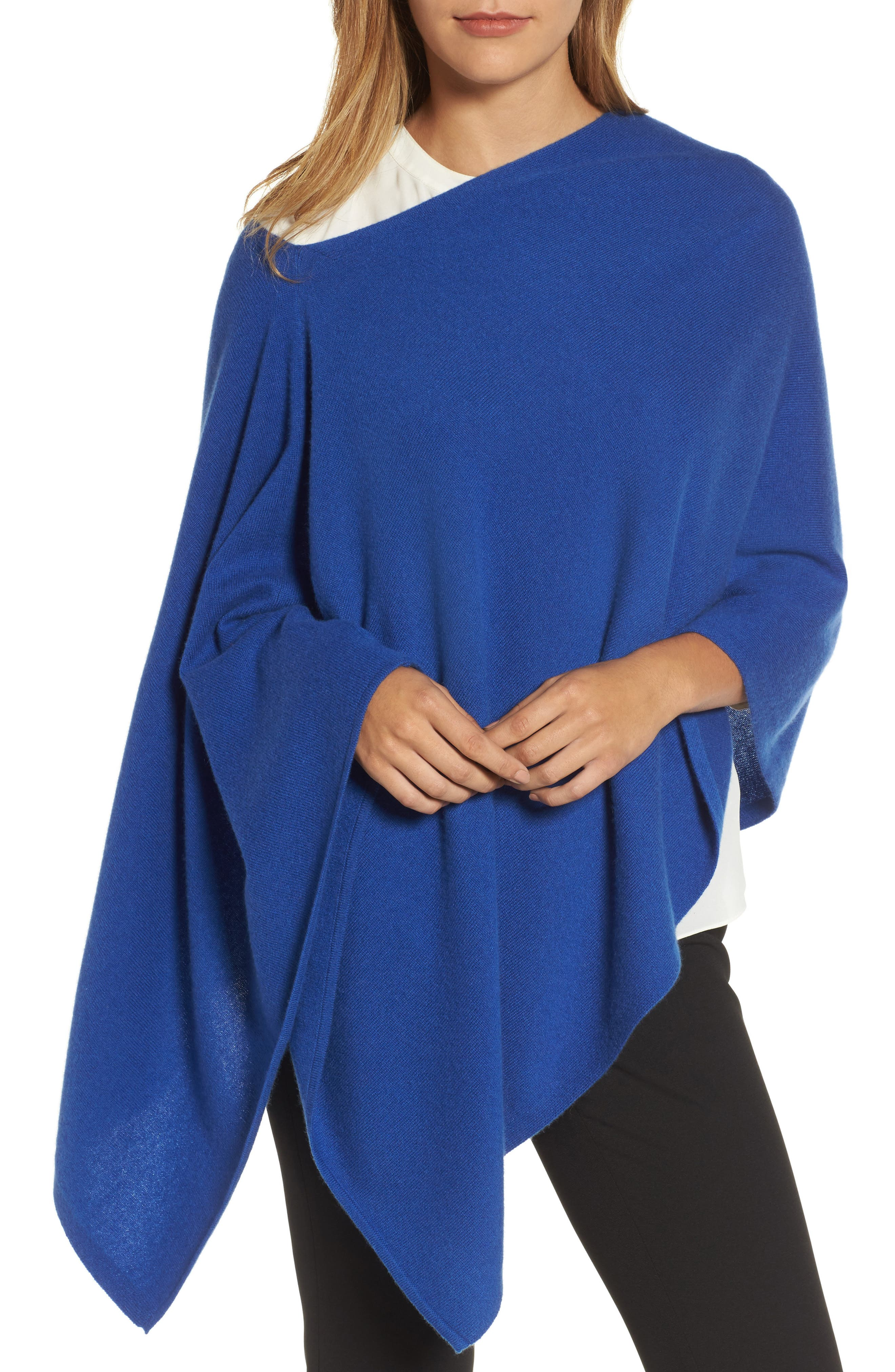 Halogen® Convertible Cashmere Poncho