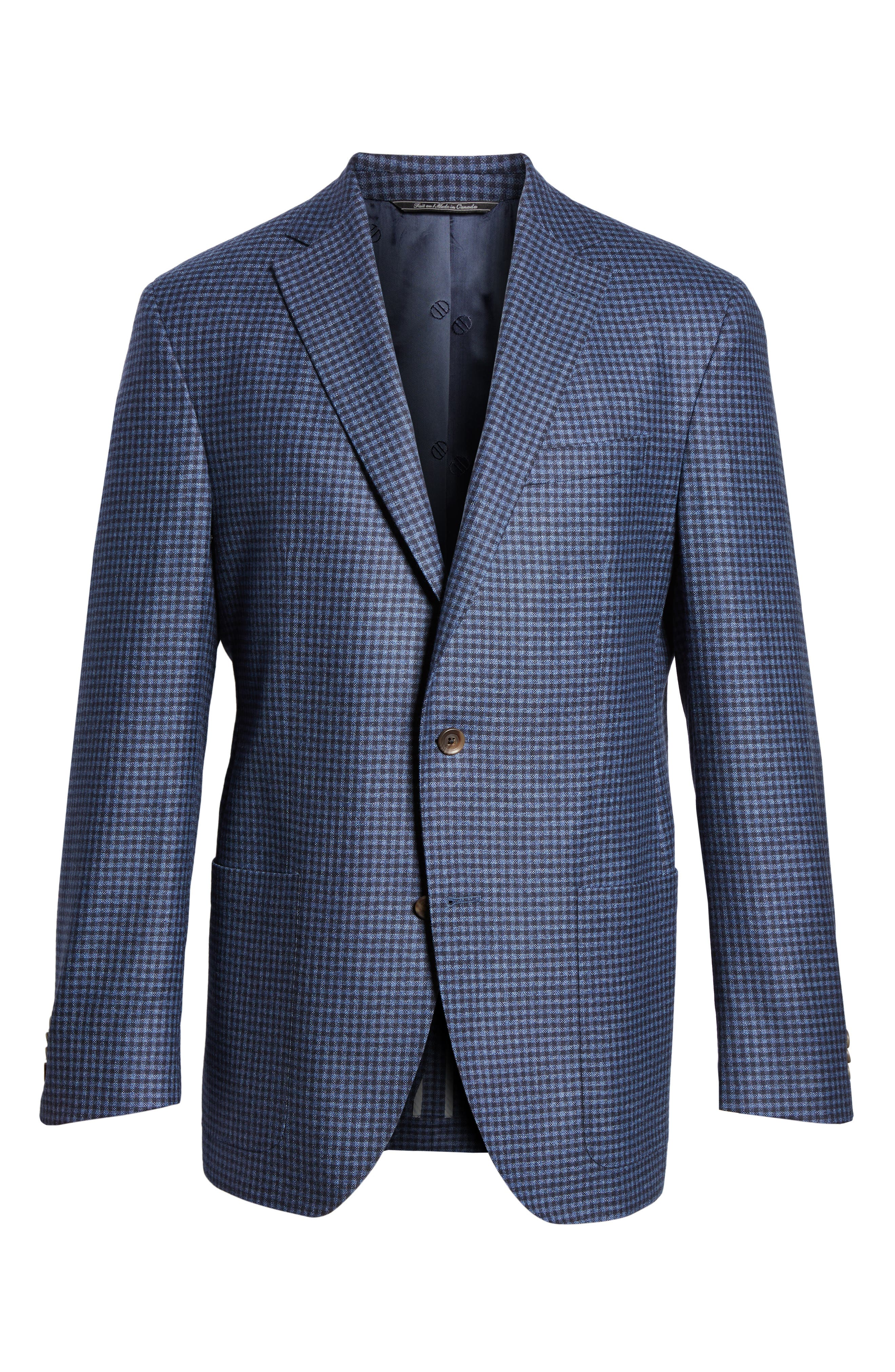 Alternate Image 6  - David Donahue Aiden Classic Fit Check Wool & Cashmere Sport Coat