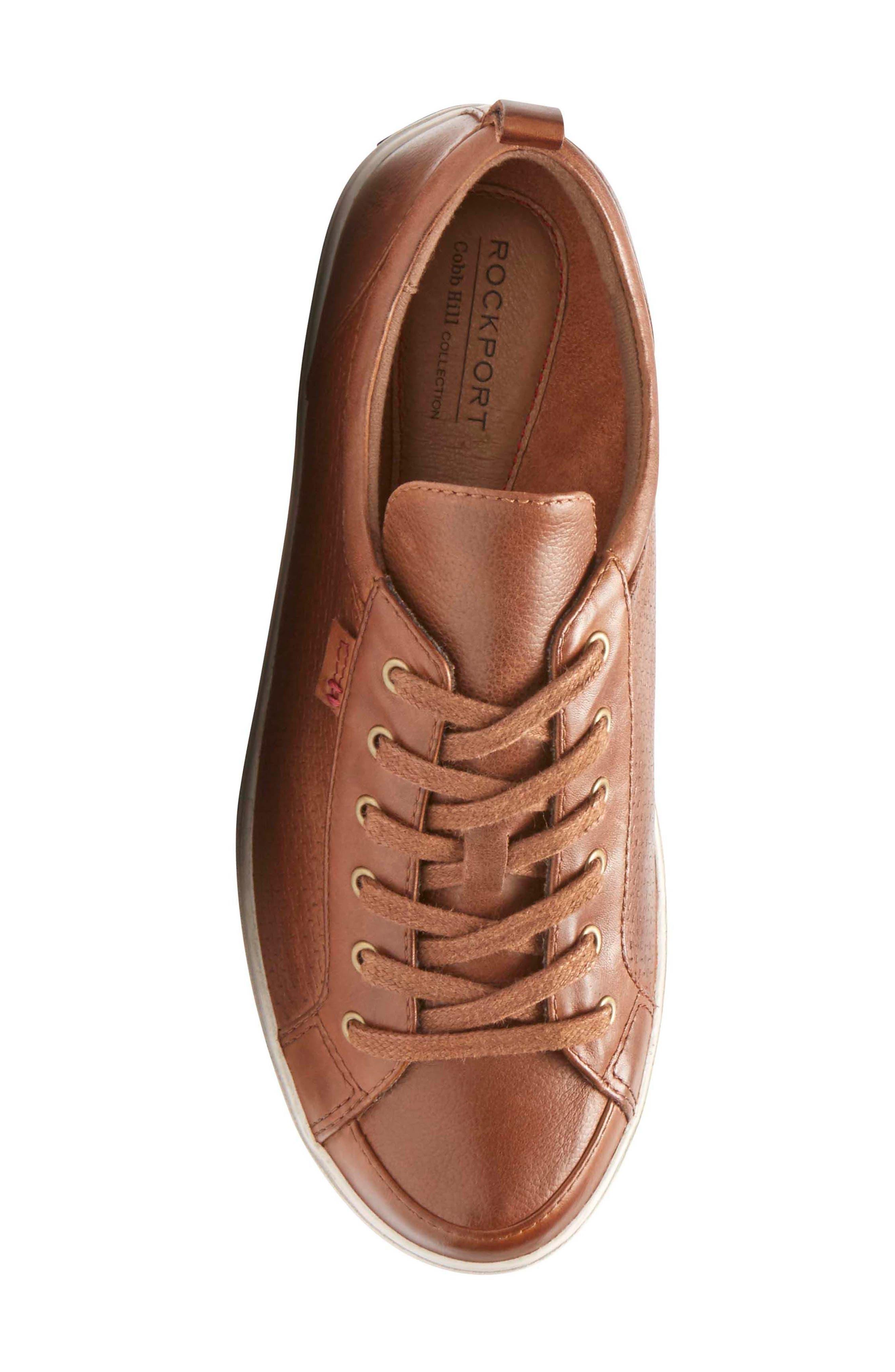 Willa Sneaker,                             Alternate thumbnail 5, color,                             Almond Leather