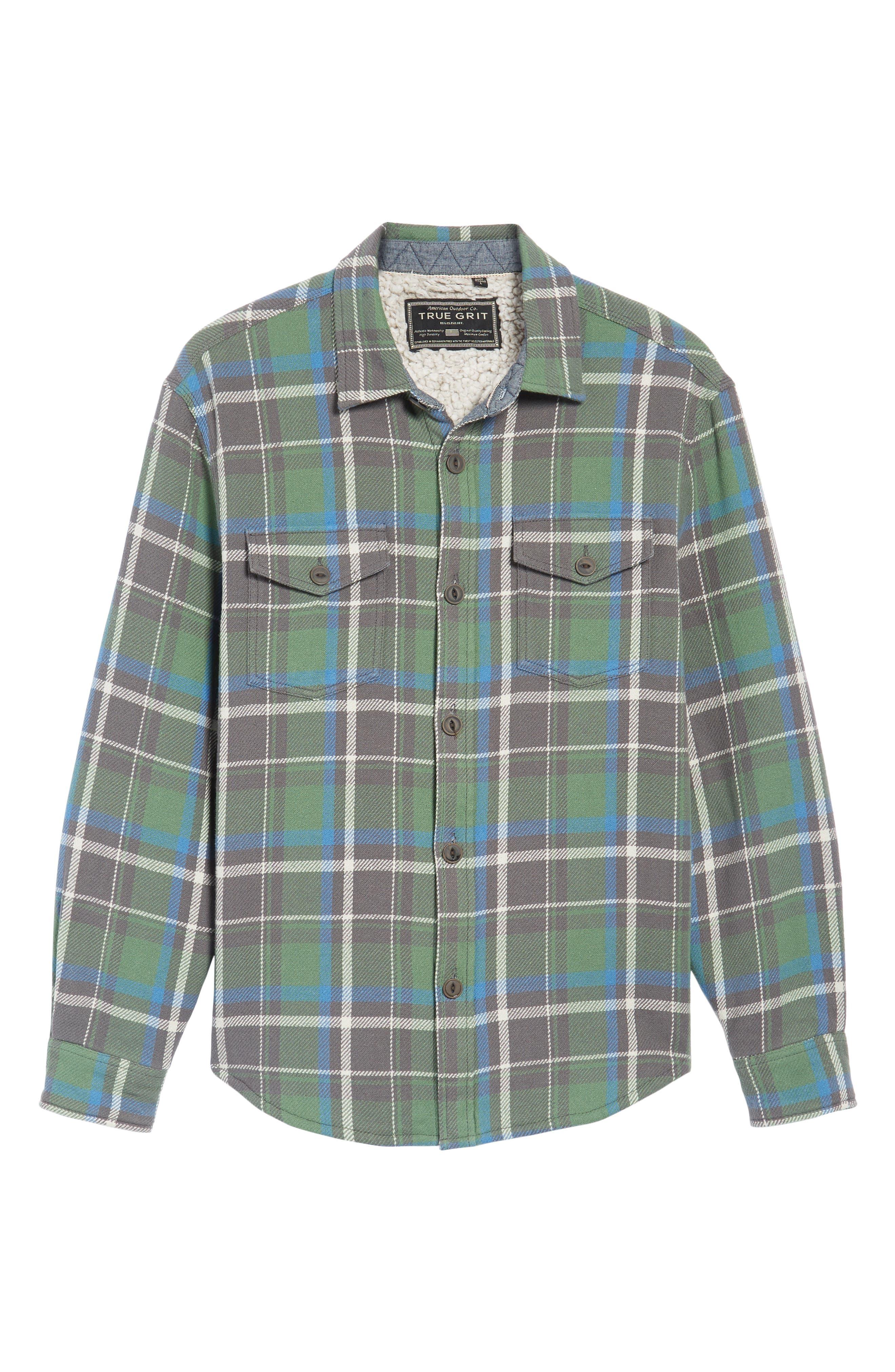 Alternate Image 6  - True Grit Summit Hunter Plaid Faux Shearling Lined Shirt Jacket