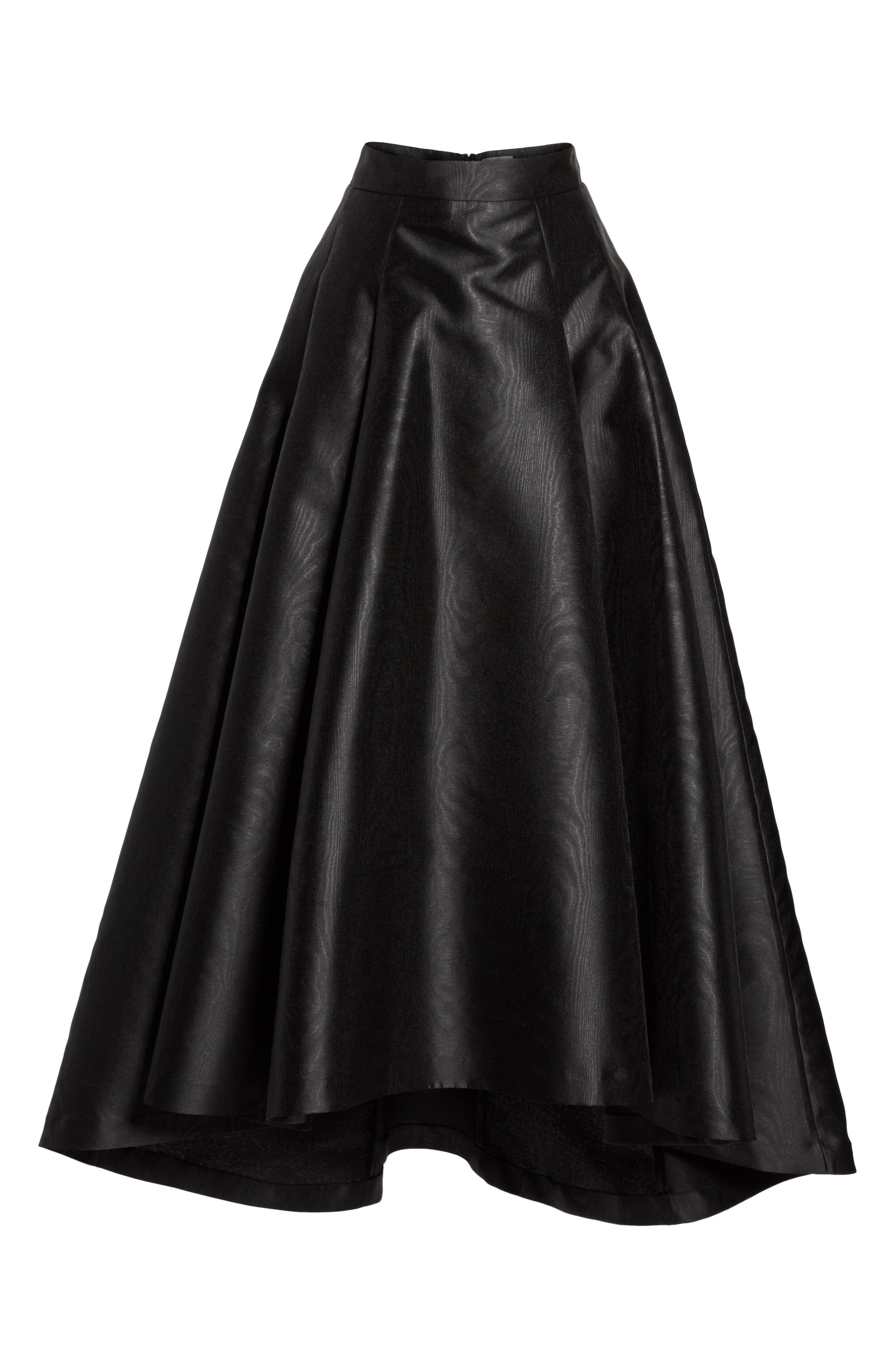 Eliza J High/Low Moiré Taffeta Ball Skirt