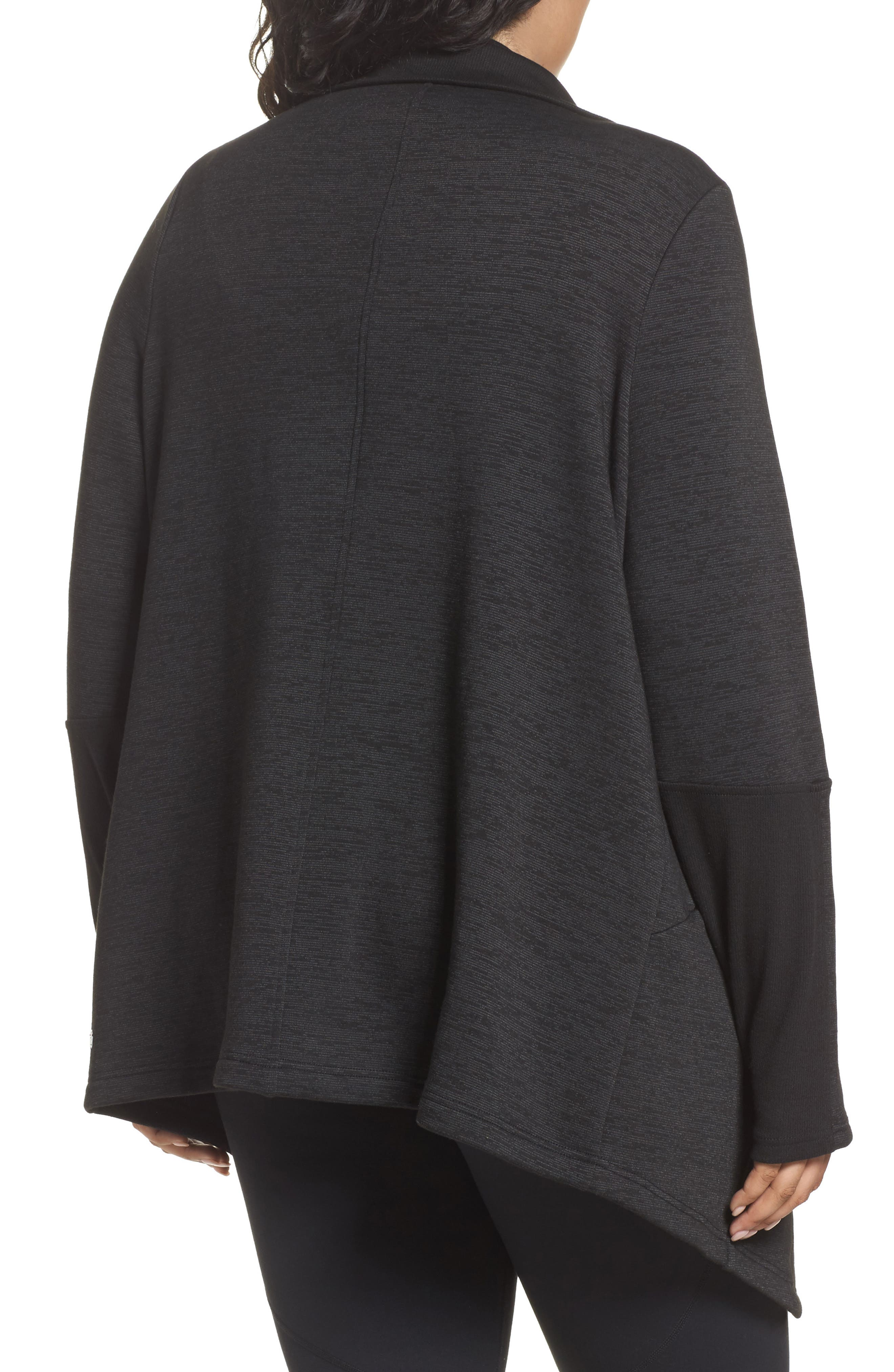 Alternate Image 2  - Zella Elevate Me Wrap Sweatshirt (Plus Size)