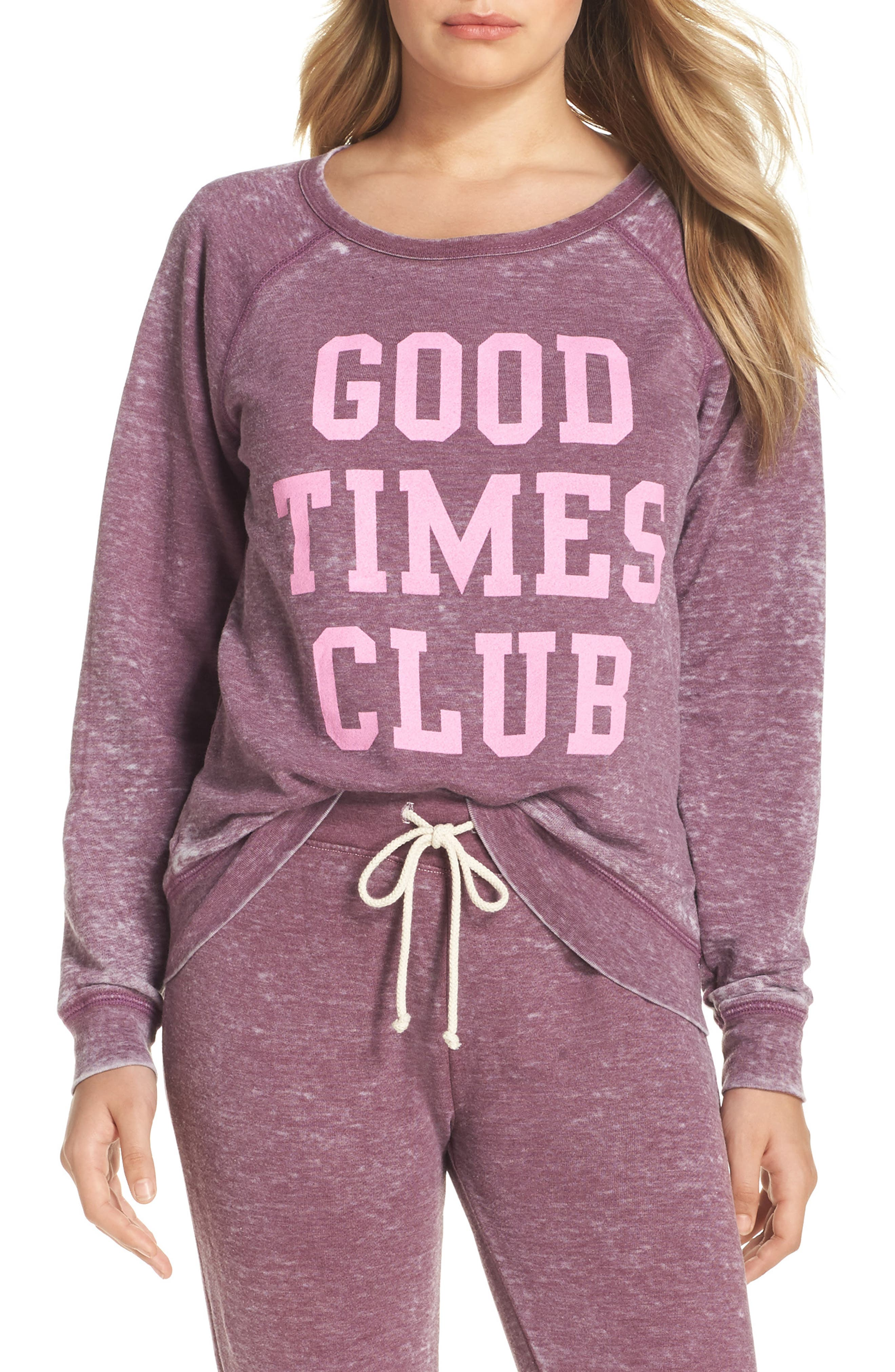 Weekend - Good Times Club Pullover,                         Main,                         color, Canyon
