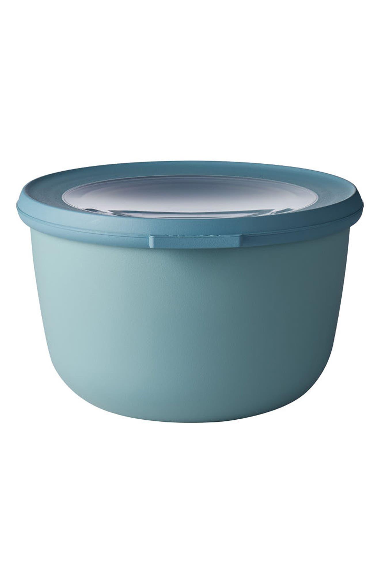 Cirqula Set of 4 Storage Bowls,                             Alternate thumbnail 3, color,                             Blue