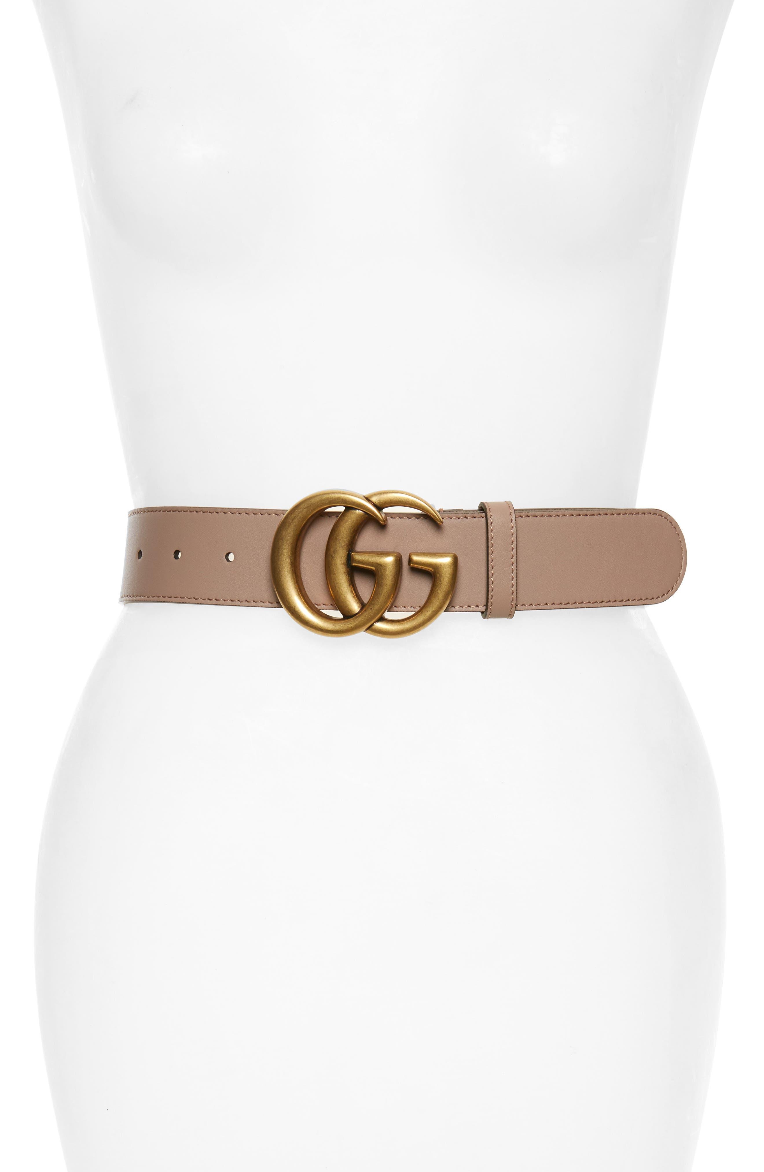 Cintura Donna Leather Belt,                         Main,                         color, Porcelain Rose