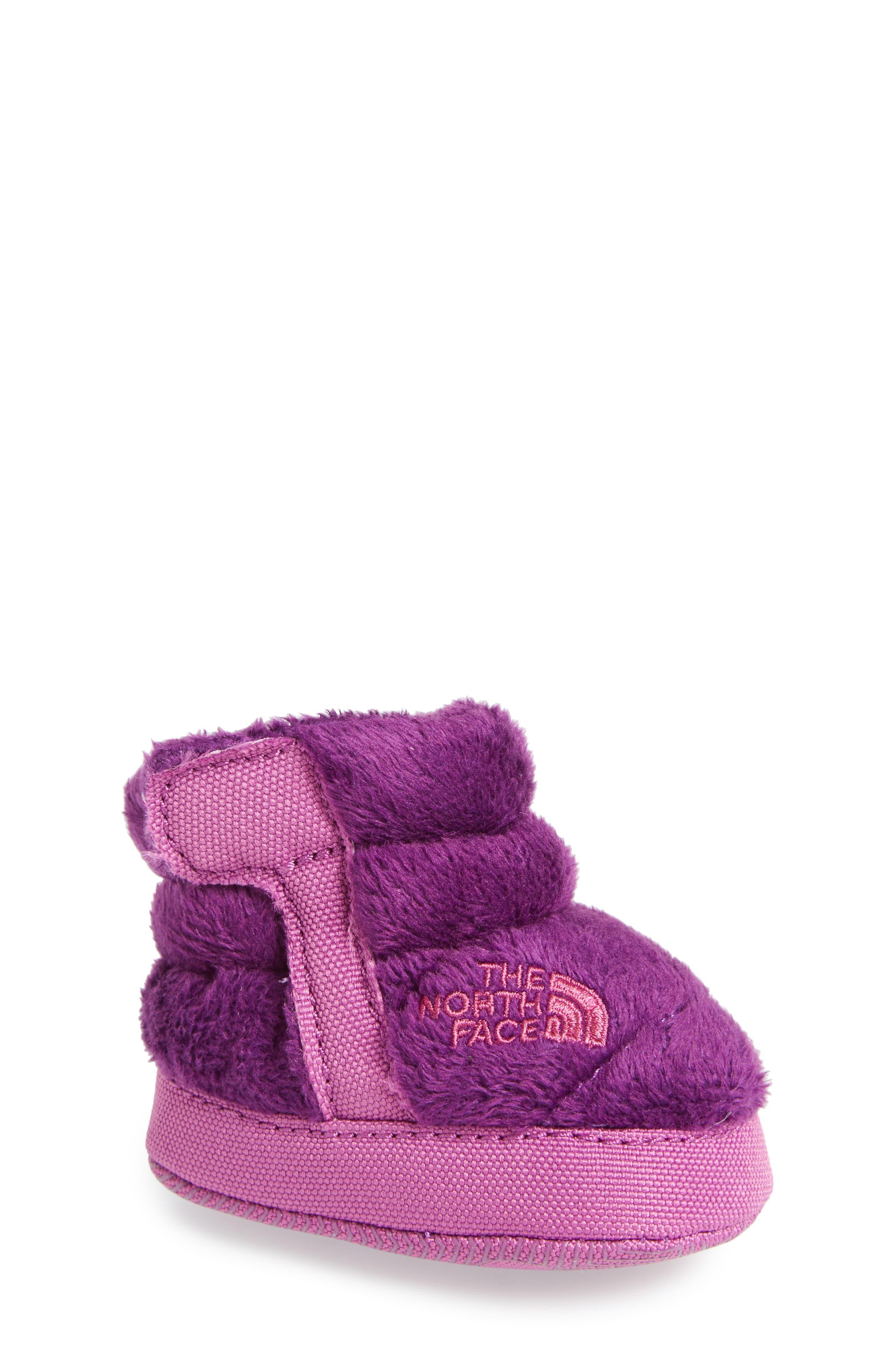 Faux Fur Bootie,                             Main thumbnail 1, color,                             Wood Violet