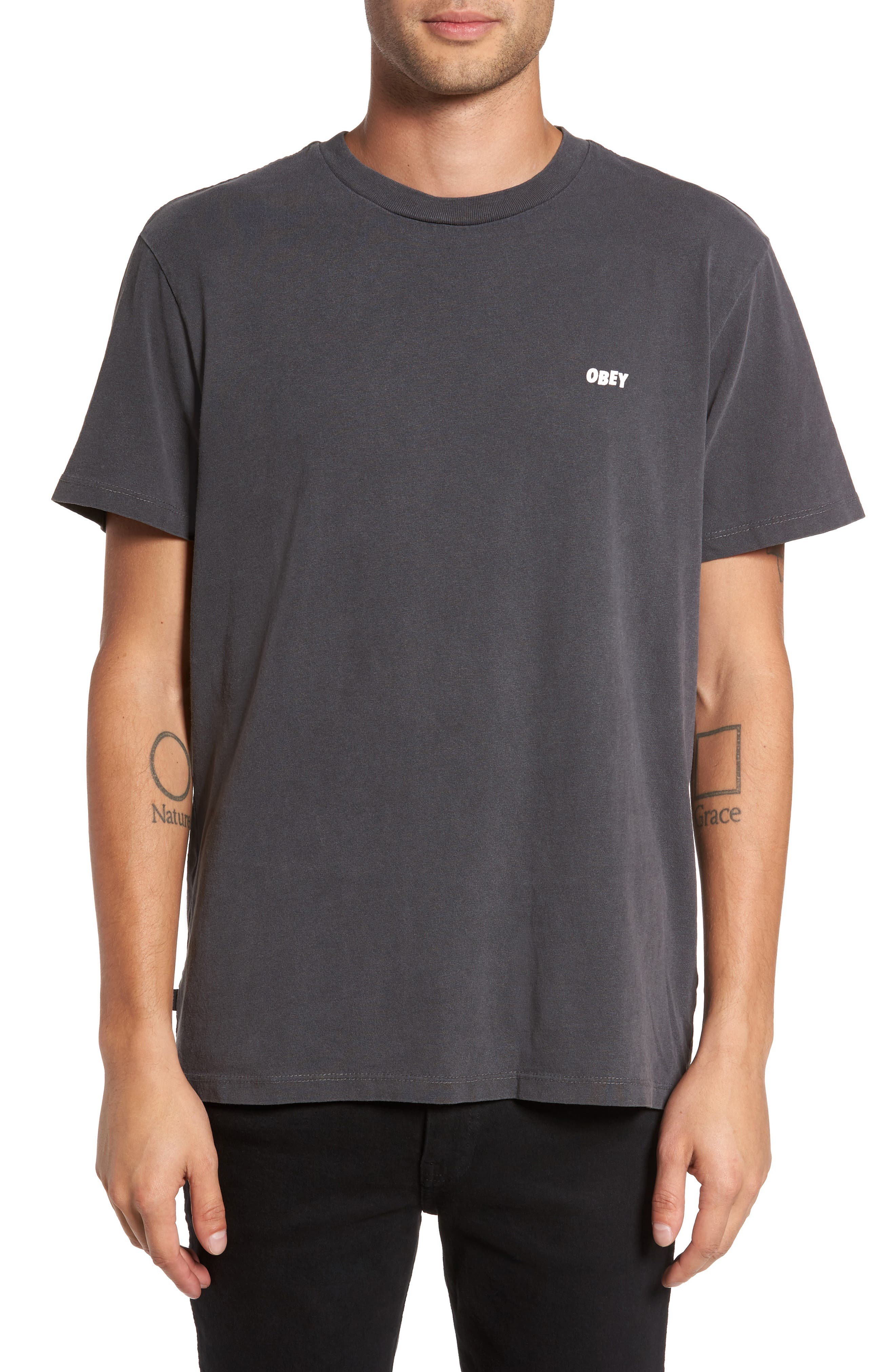 Eyes Graphic T-Shirt,                             Main thumbnail 1, color,                             Dusty Black