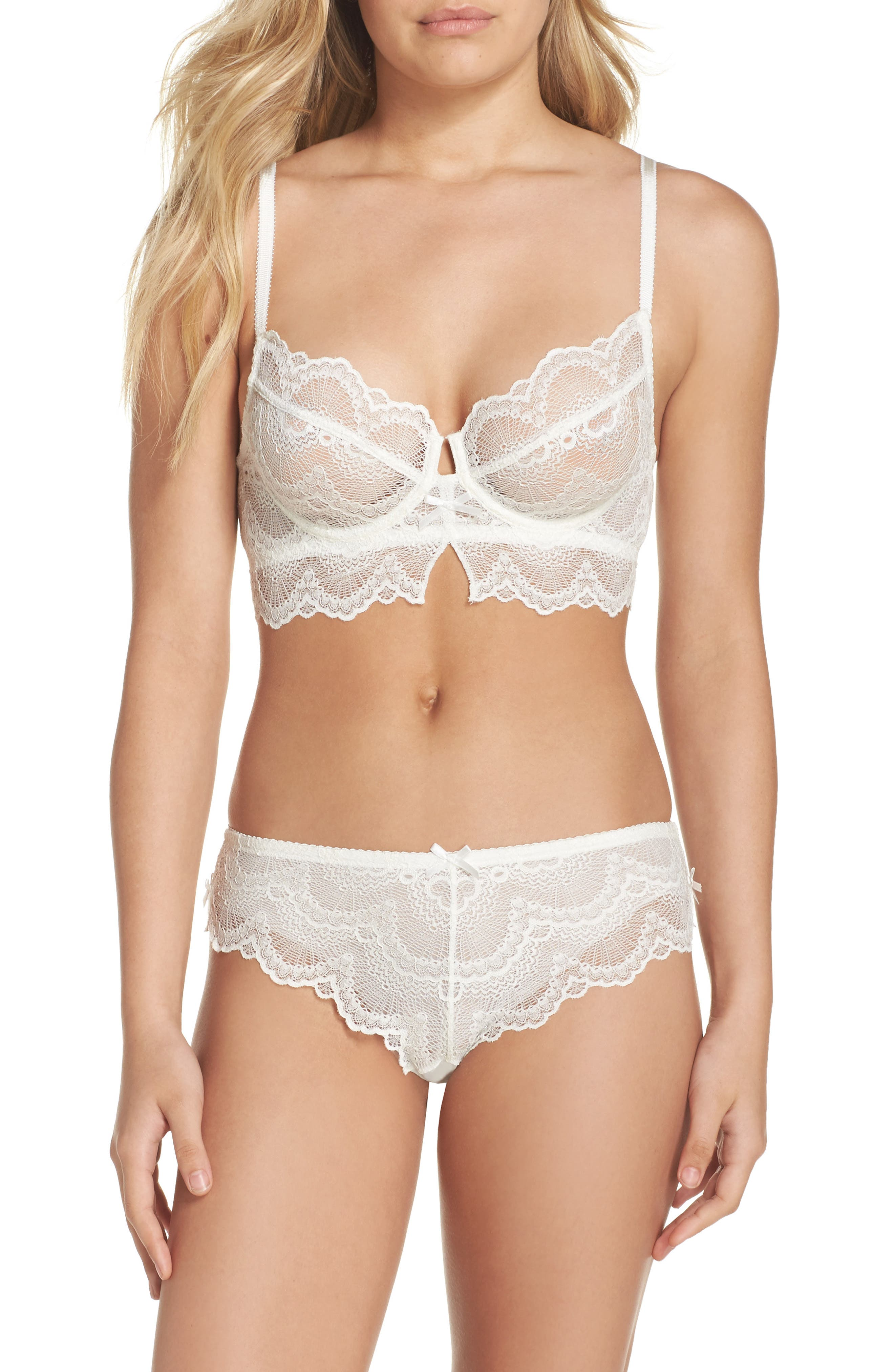 Lace Hipster Briefs,                             Alternate thumbnail 5, color,                             Antique Ivory
