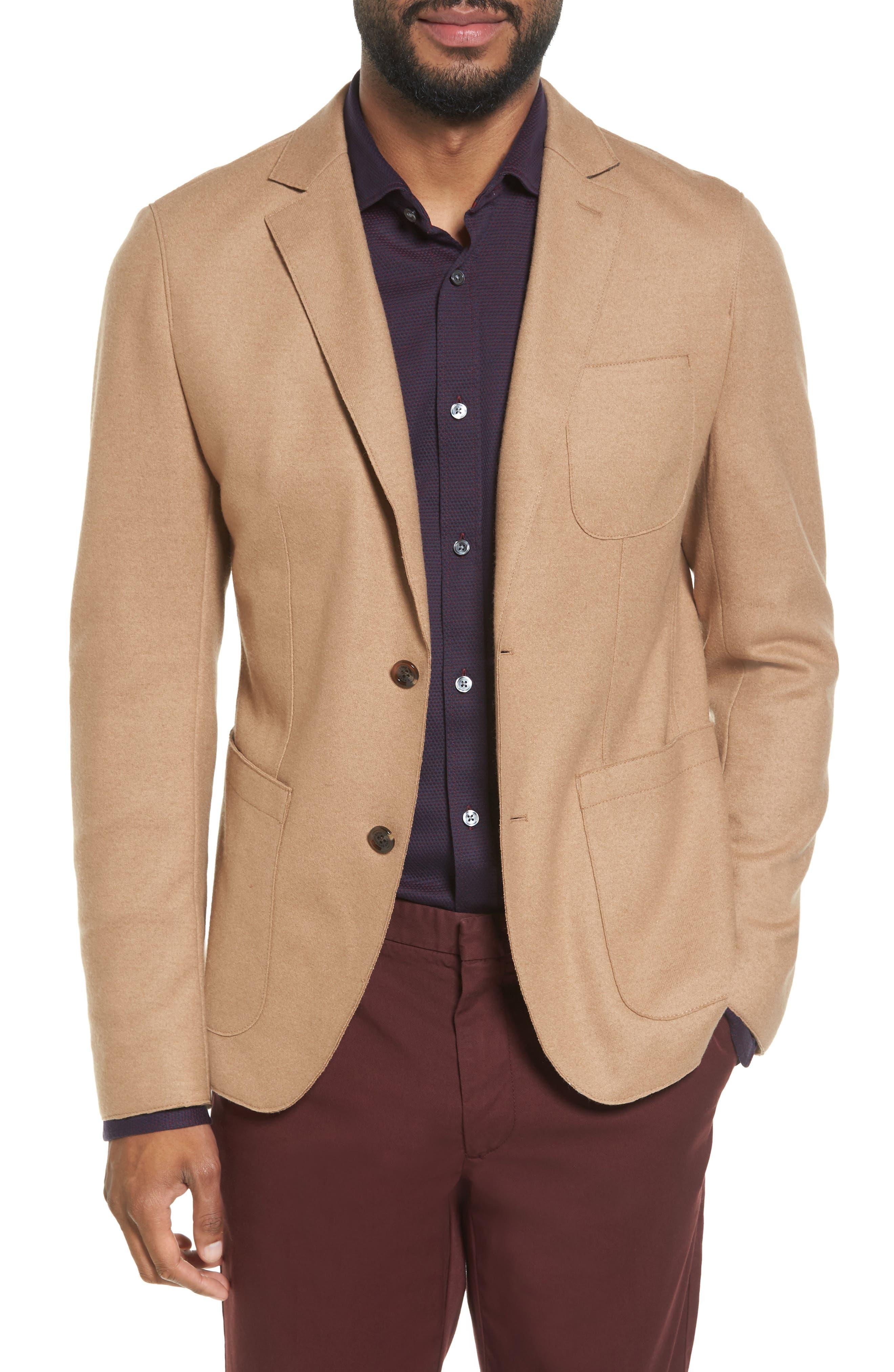 Nordin Trim Fit Virgin Wool Sport Coat,                         Main,                         color, Khaki
