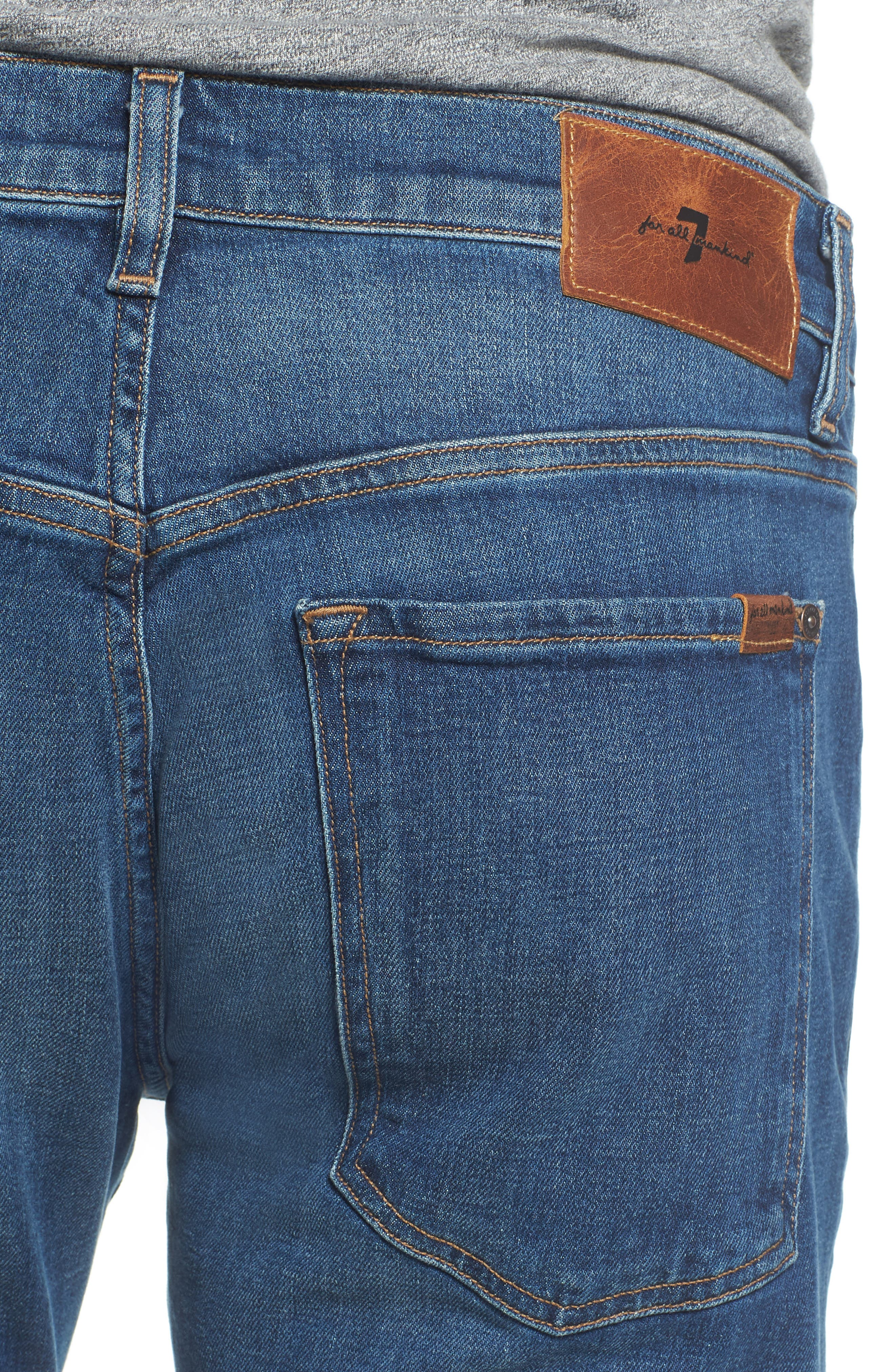 The Straight Slim Straight Leg Jeans,                             Alternate thumbnail 4, color,                             Scout