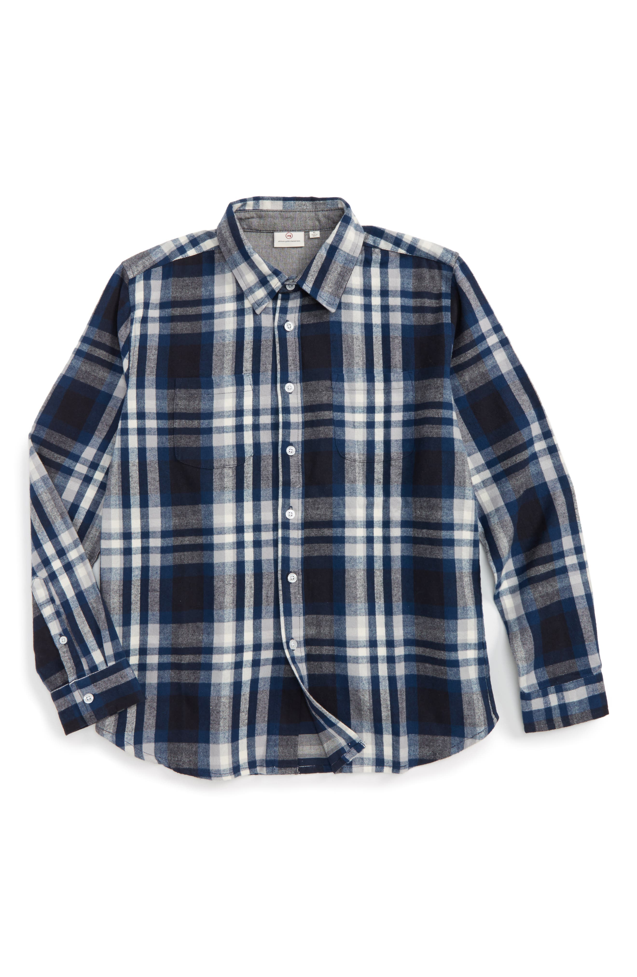 Alternate Image 1 Selected - ag adriano goldschmied kids Standford Flannel Shirt (Little Boys & Big Boys)