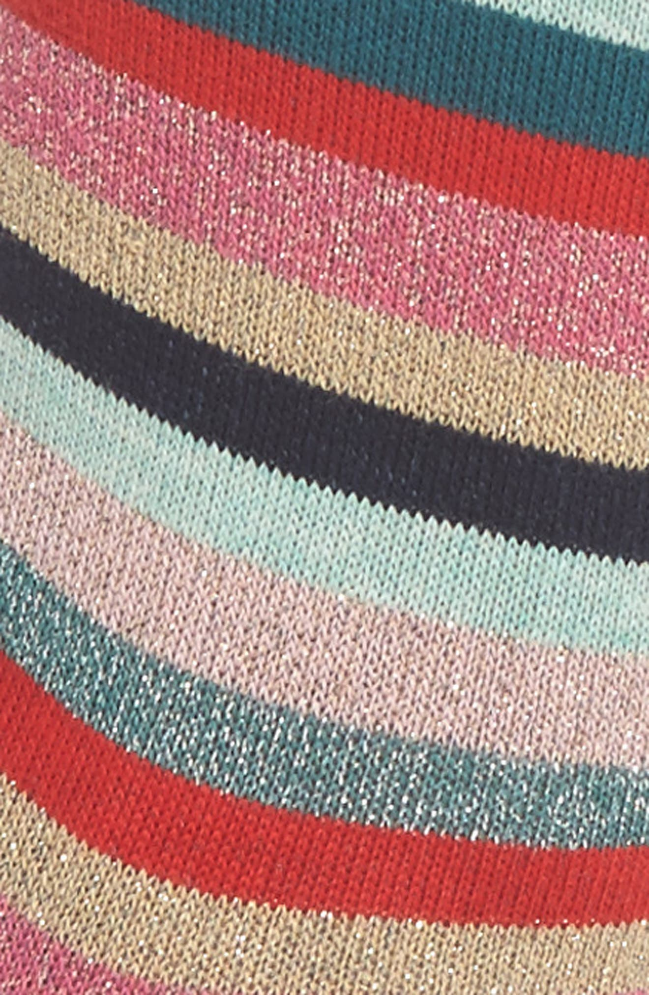Clarissa Swirl Artist Stripe Crew Socks,                             Alternate thumbnail 2, color,                             Multi