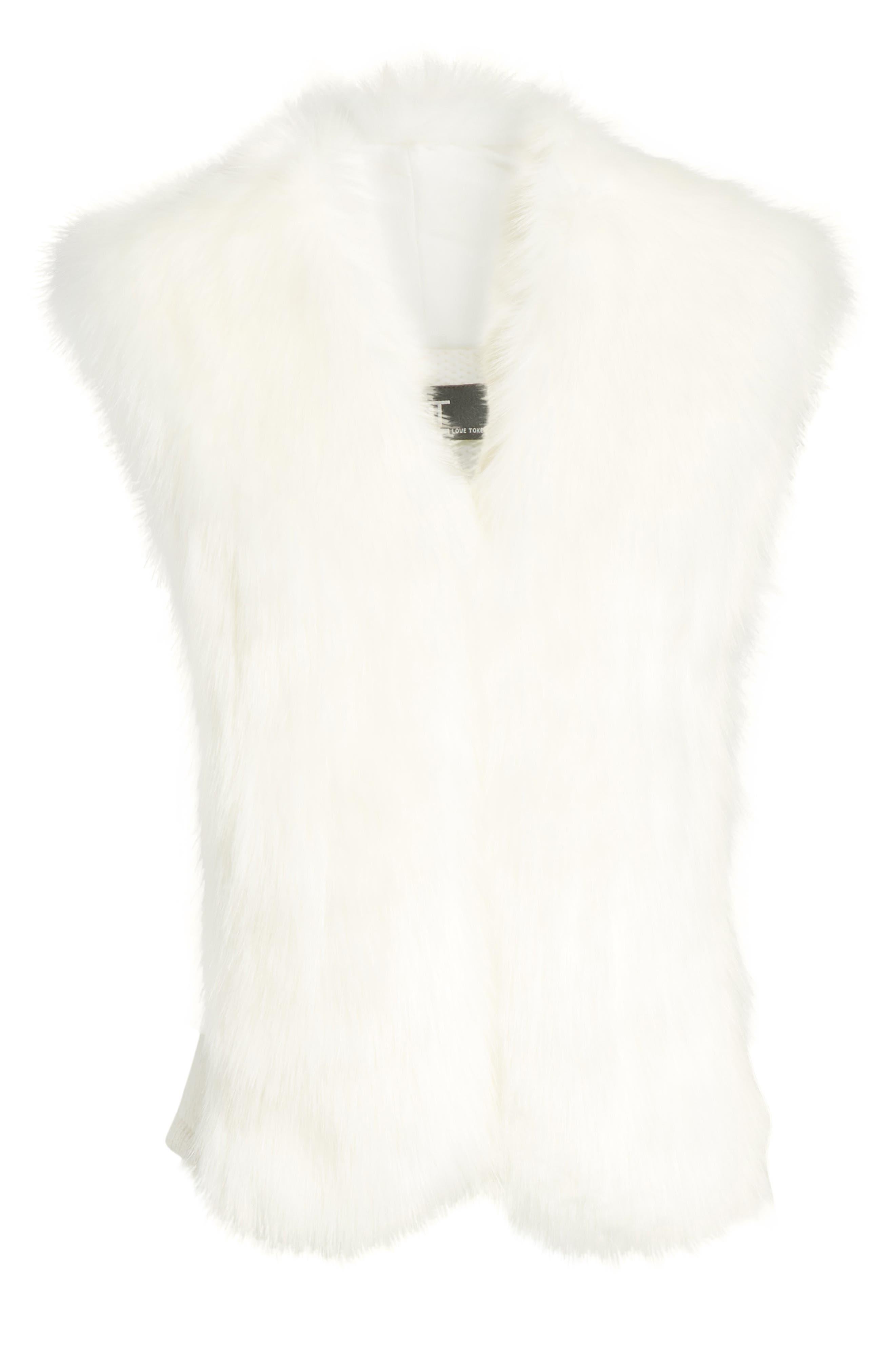 Alternate Image 6  - Love Token Faux Fur Knit Vest