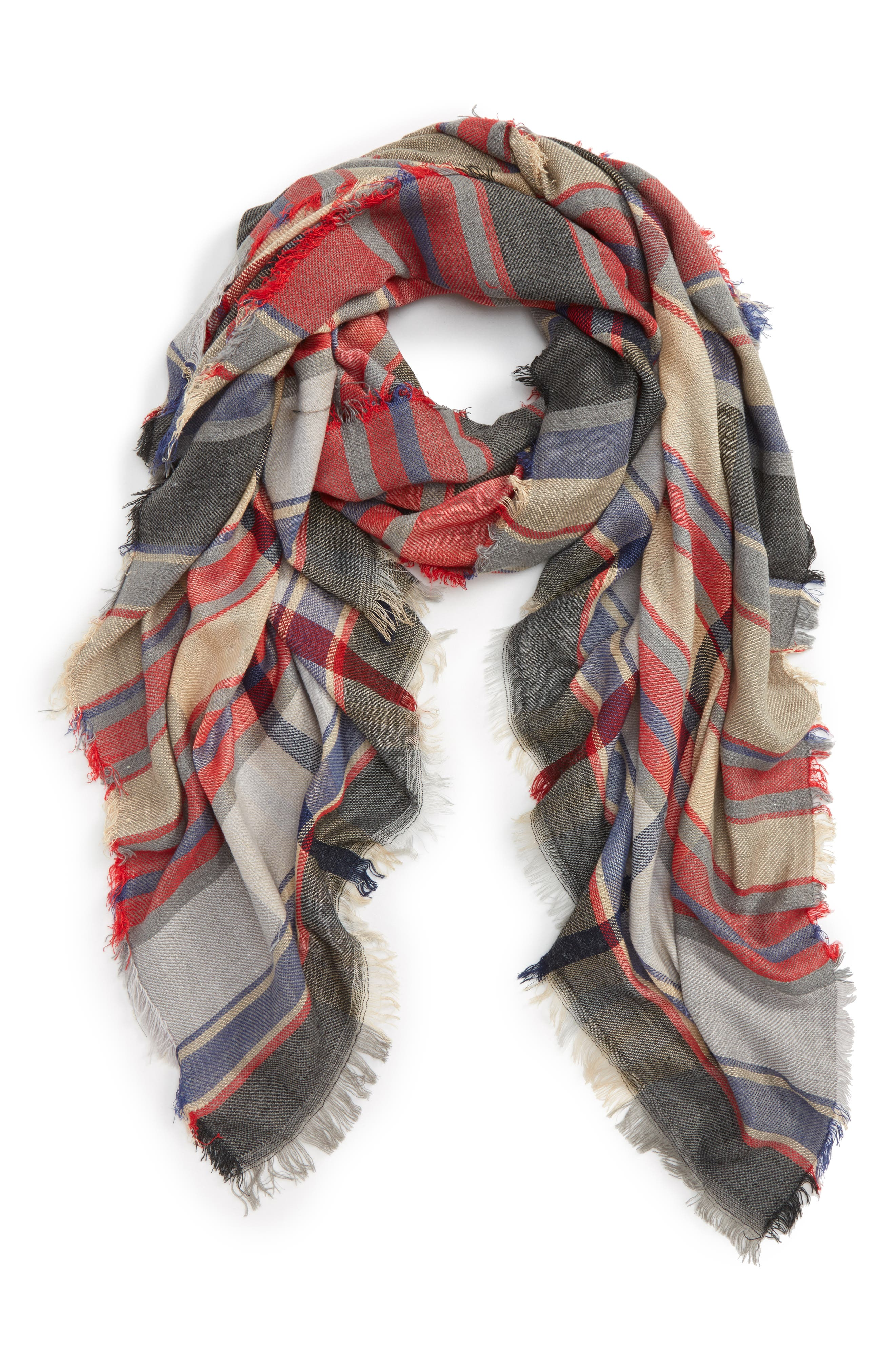 BP. Plaid Oblong Scarf