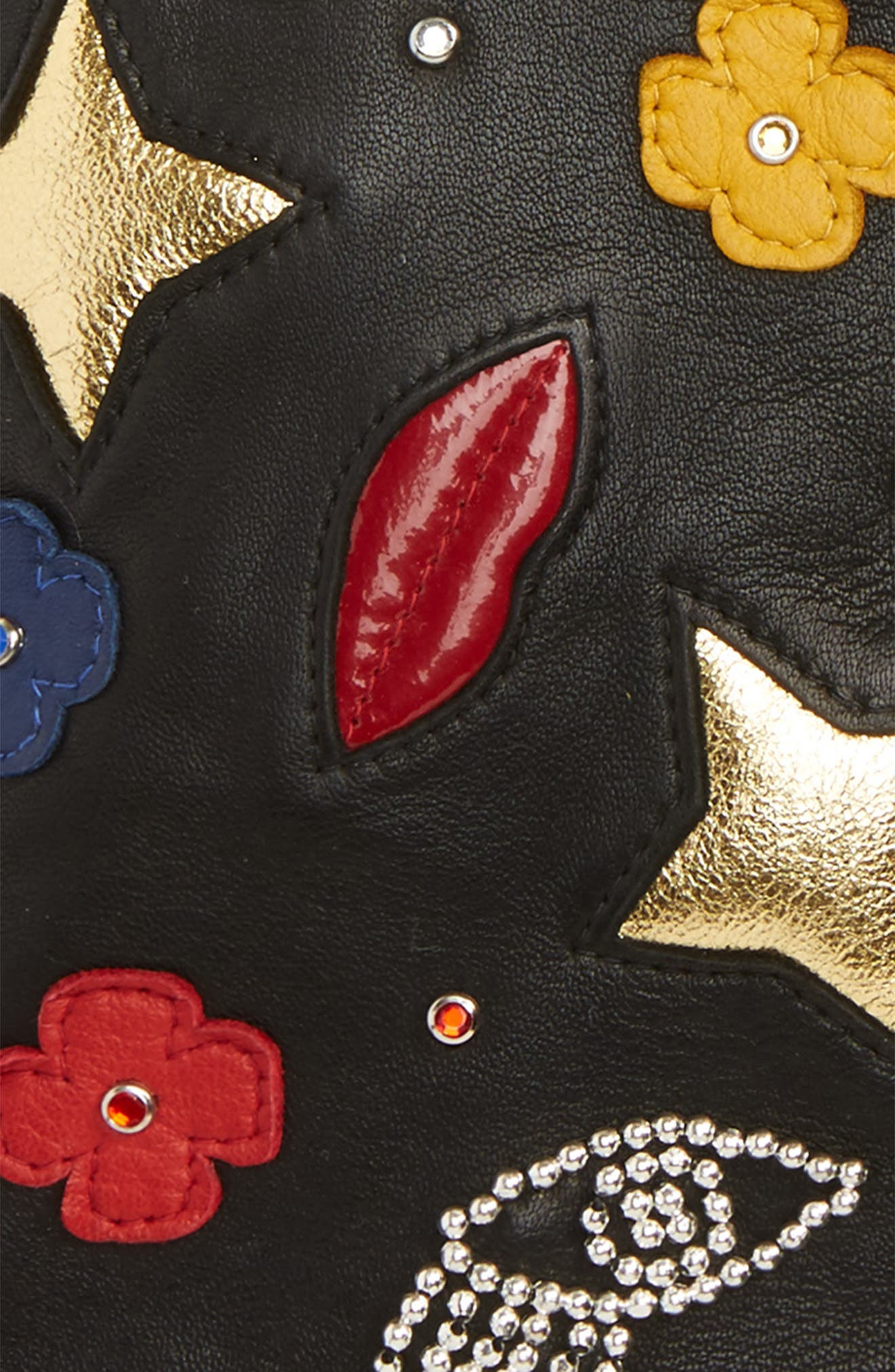 Alternate Image 3  - Agnelle Funny Patches Lambskin Leather Gloves