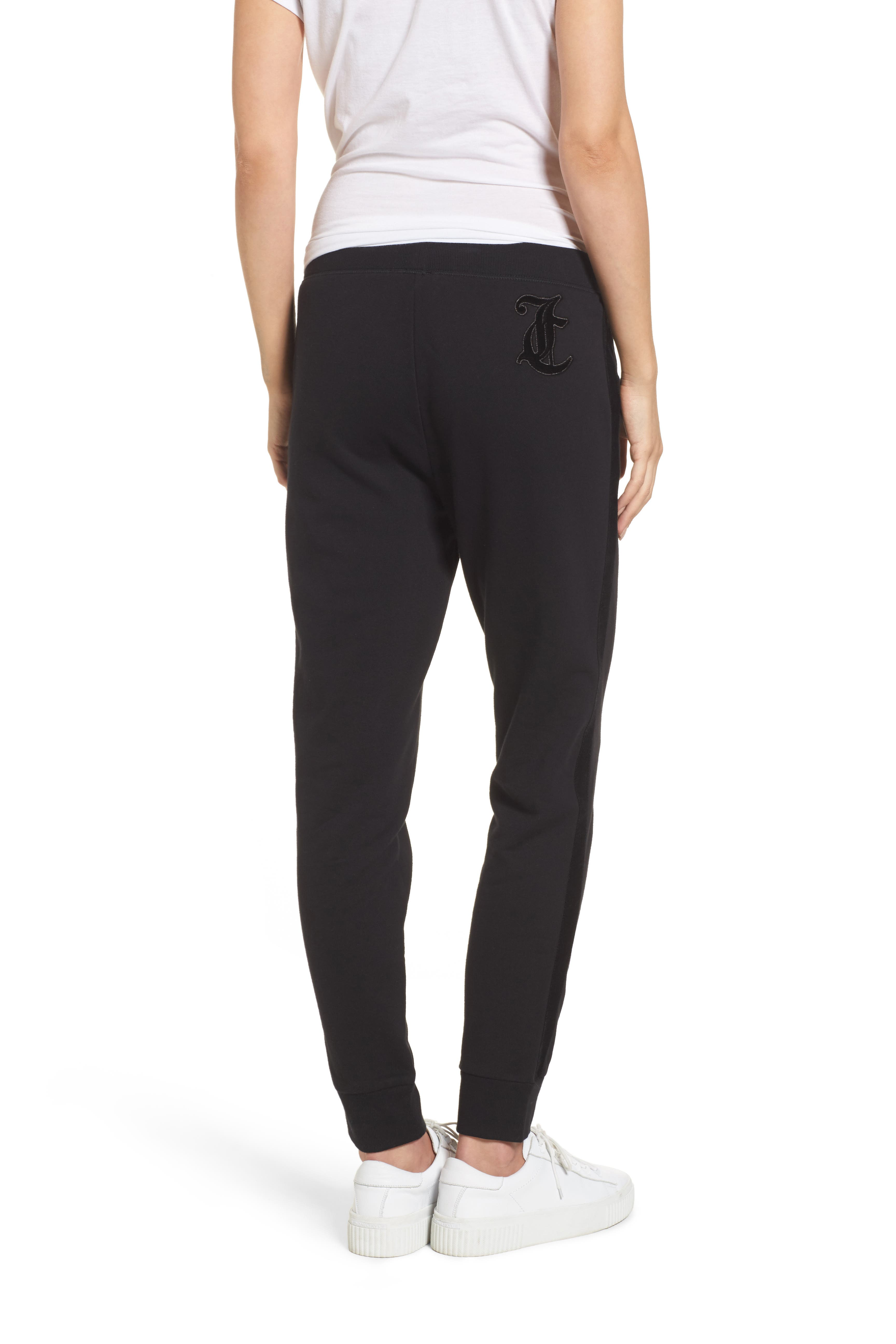 Elevate French Terry Track Pants,                             Alternate thumbnail 4, color,                             Pitch Black