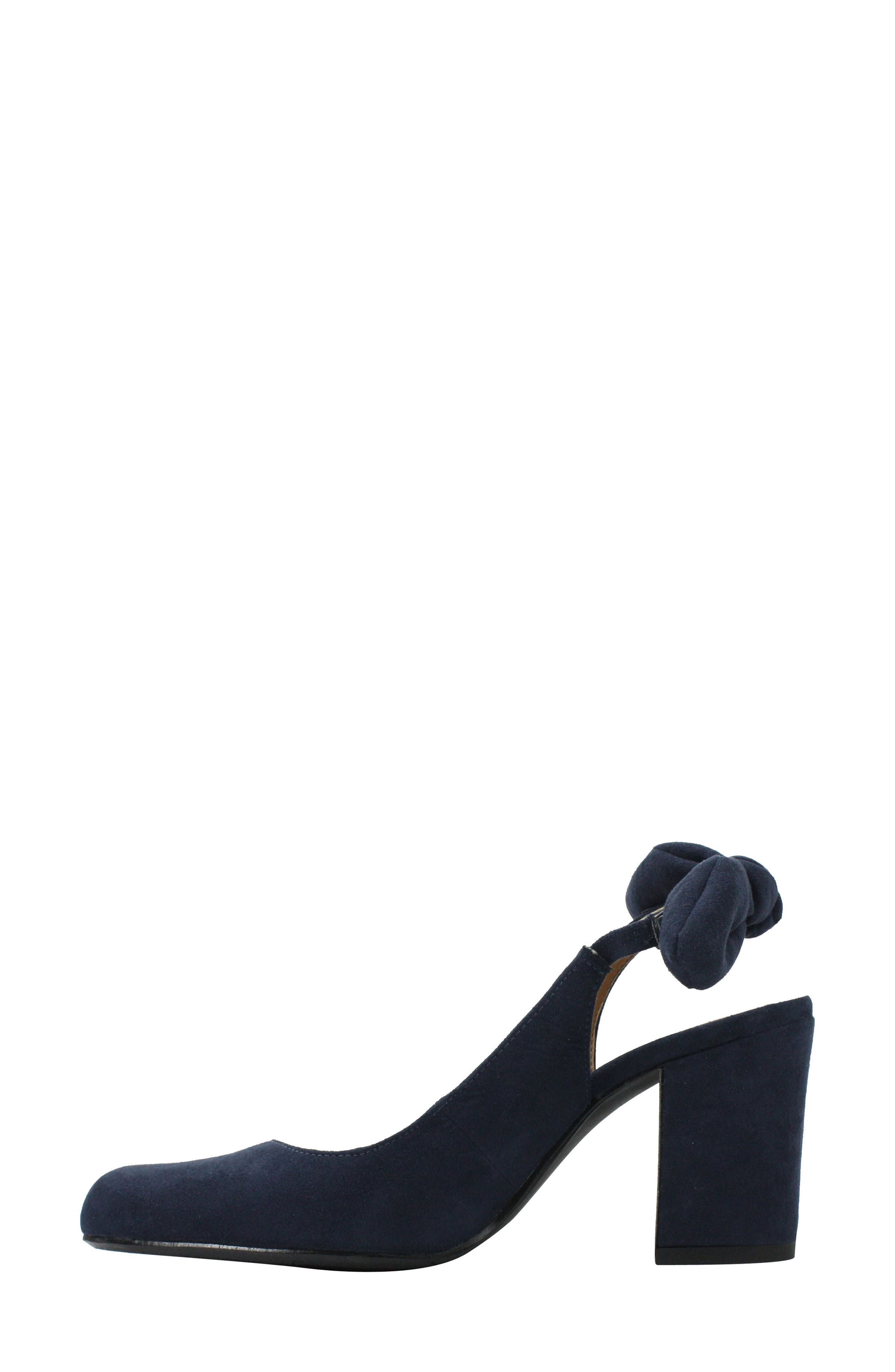 Kennedi Slingback Pump,                             Alternate thumbnail 2, color,                             Navy