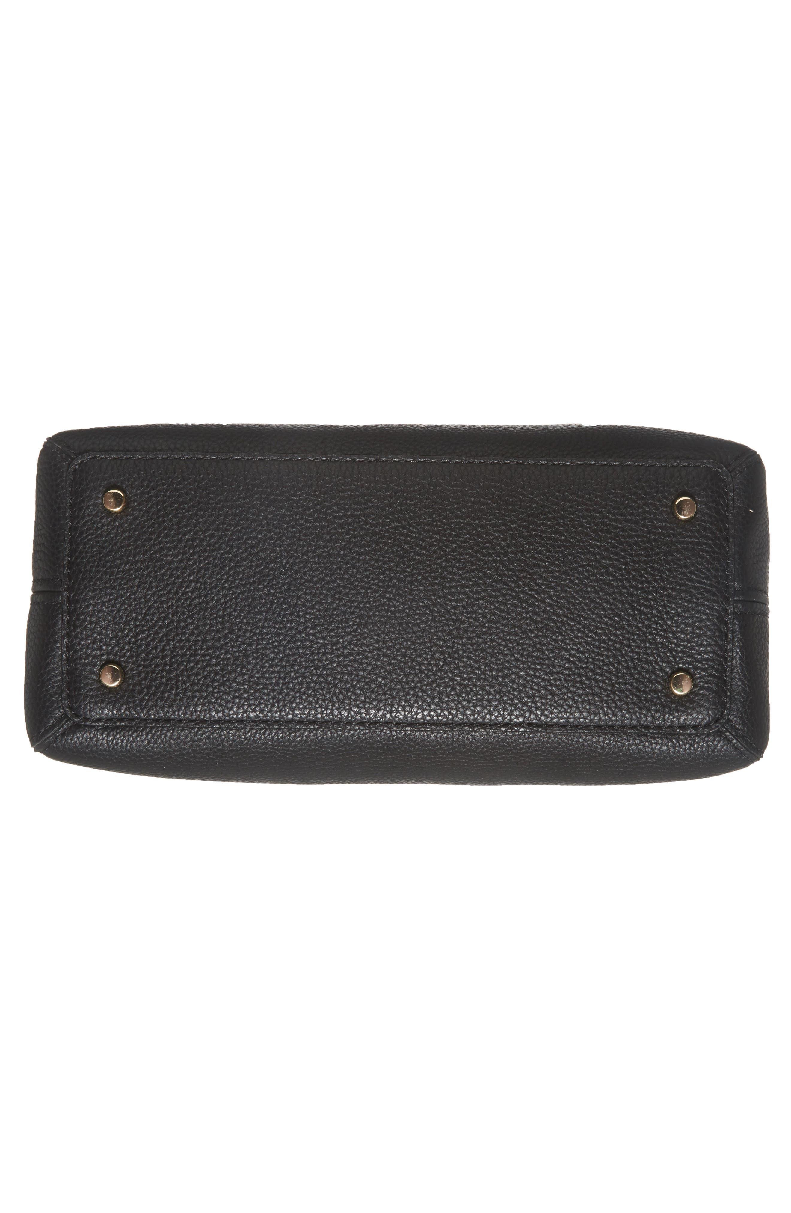 jackson street lottie leather satchel,                             Alternate thumbnail 5, color,                             Black