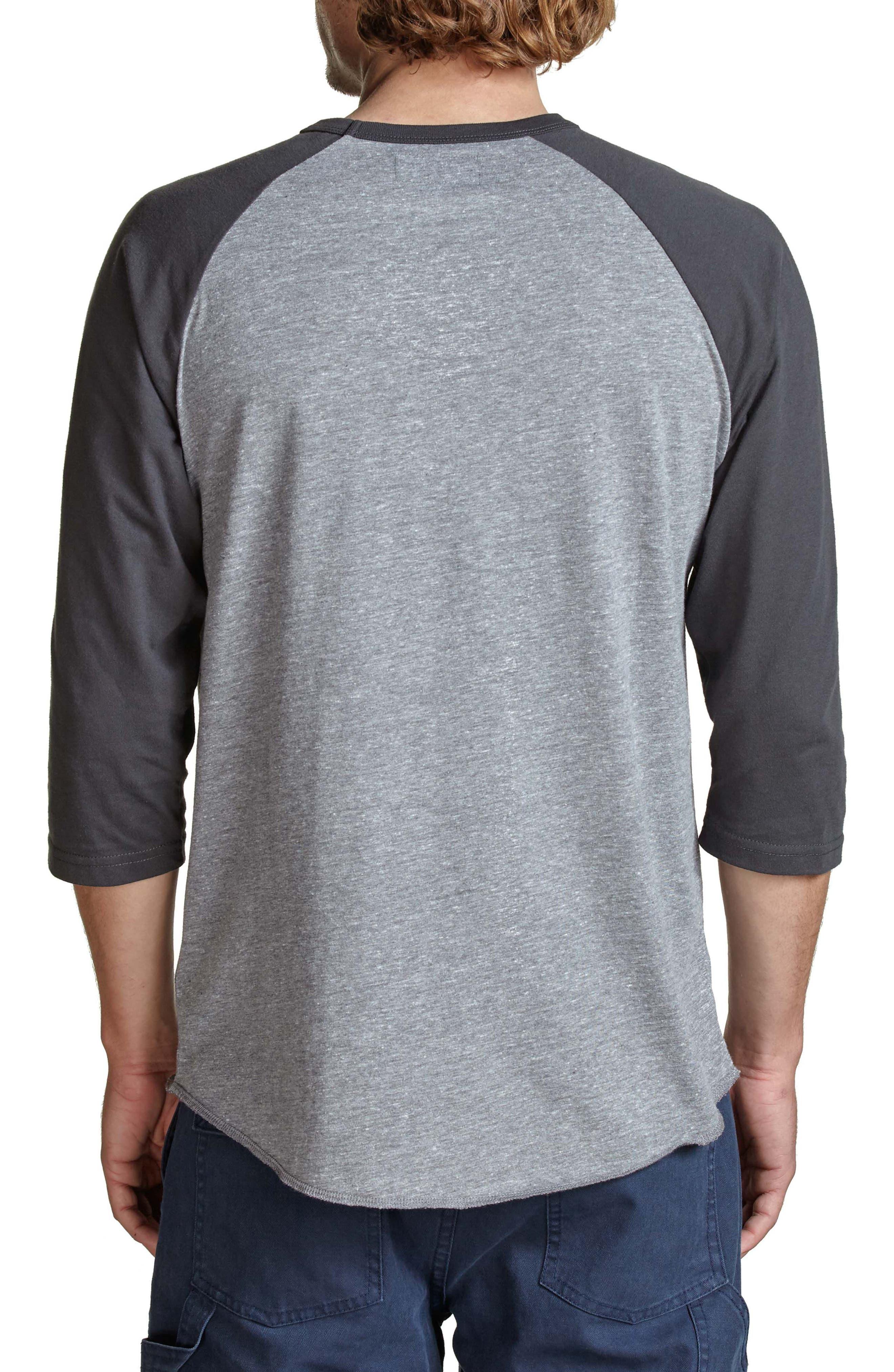 Concord Baseball T-Shirt,                             Alternate thumbnail 2, color,                             Grey/ Washed Black
