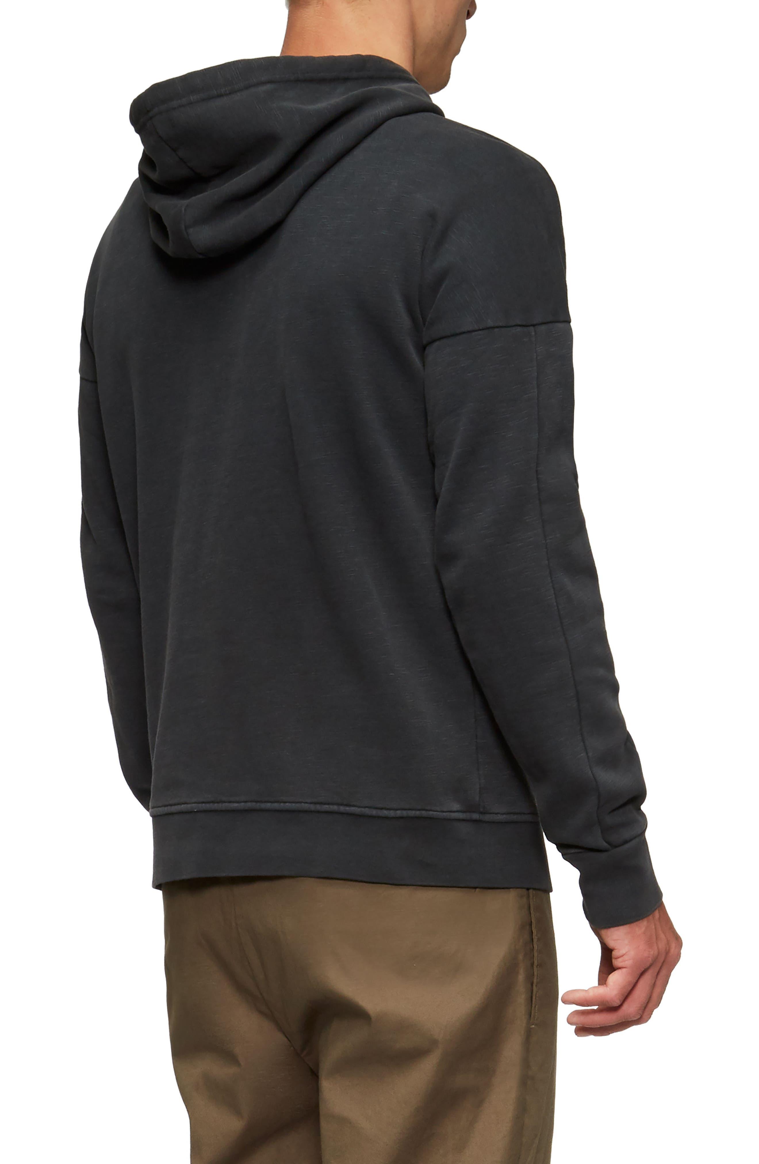 Turf Hooded Sweatshirt,                             Alternate thumbnail 2, color,                             Black