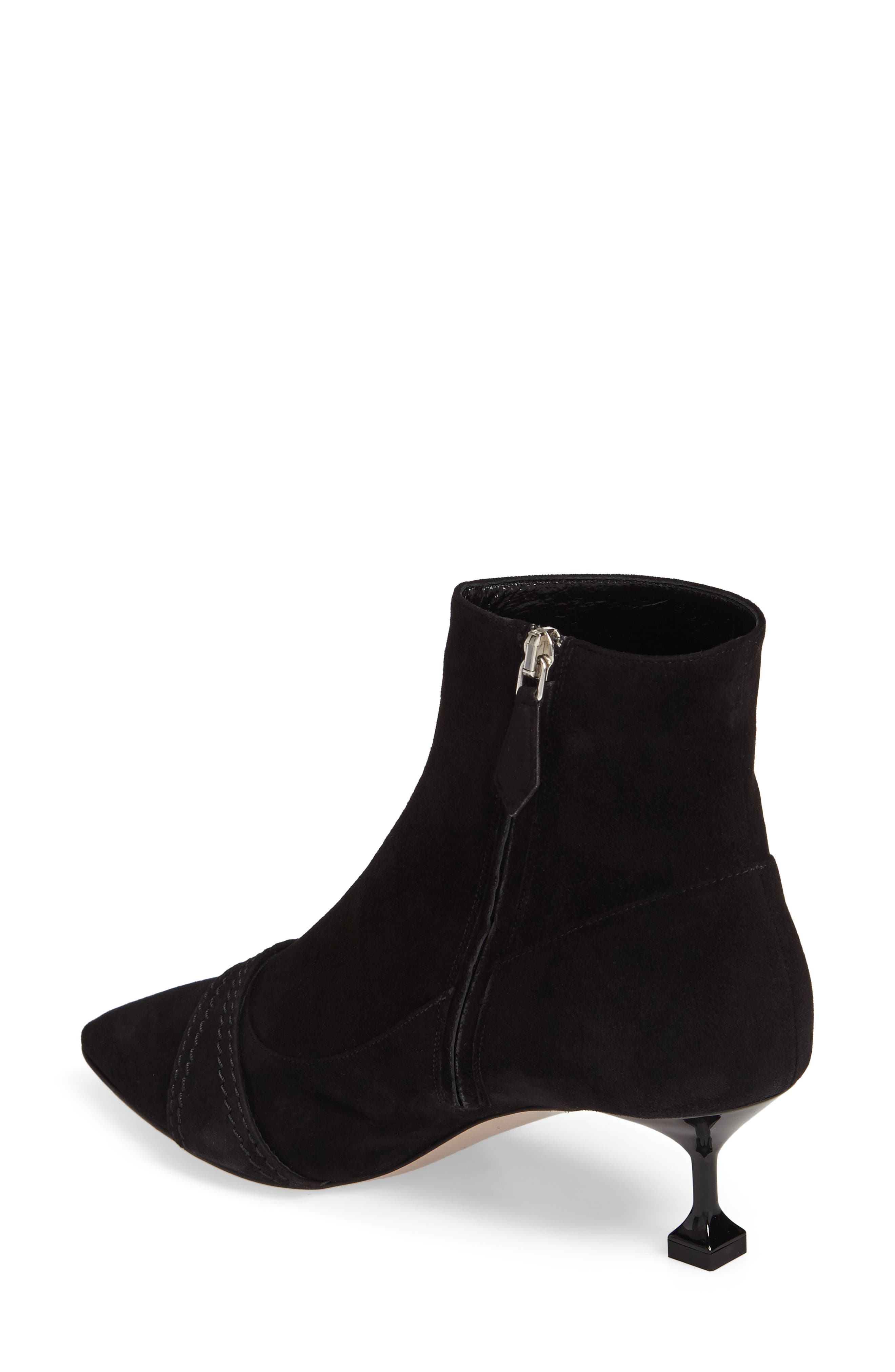 Alternate Image 2  - Miu Miu Embellished Pointy Toe Bootie (Women)