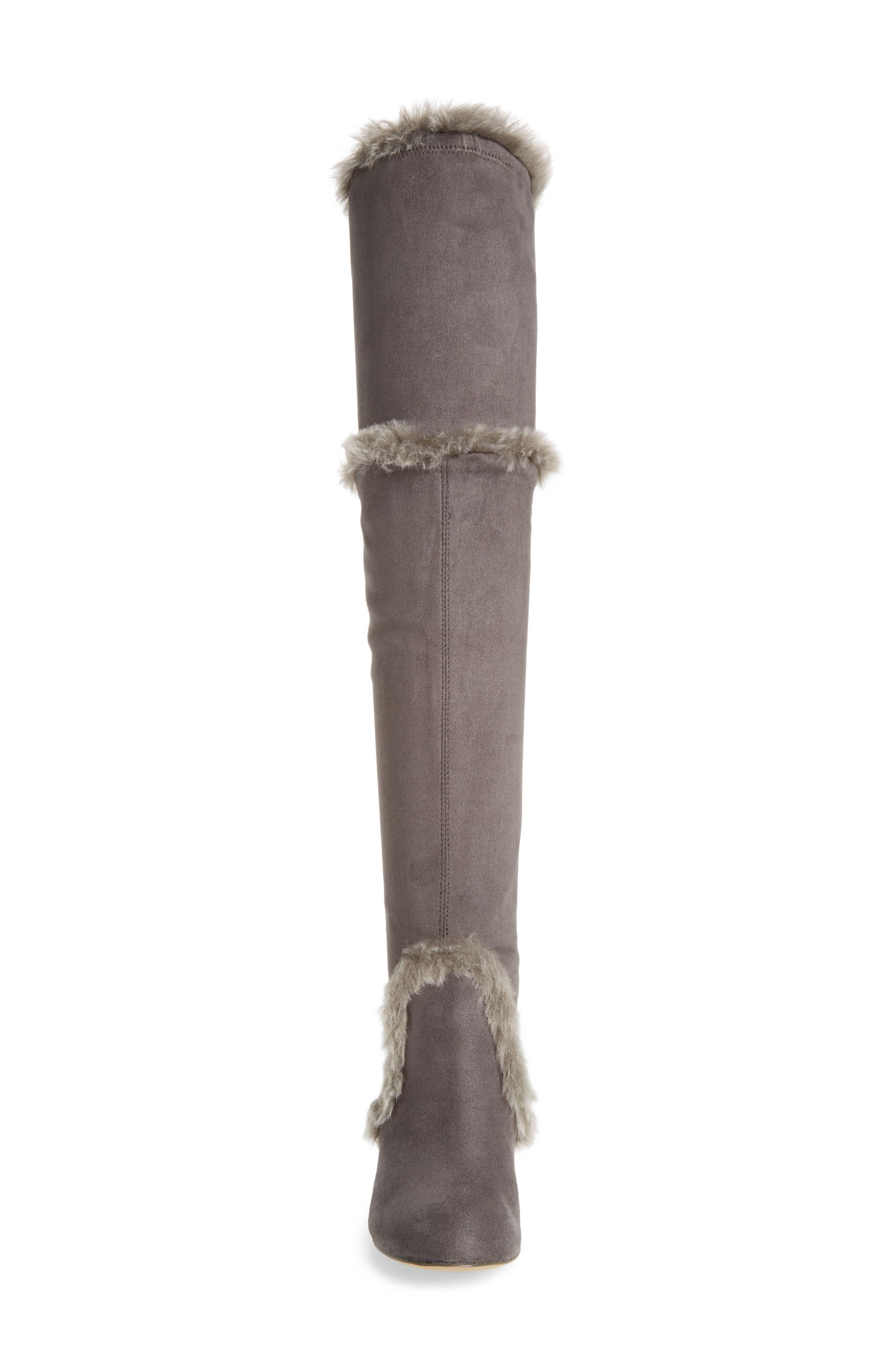 Odom Over the Knee Boot,                             Alternate thumbnail 4, color,                             Slate Faux Suede