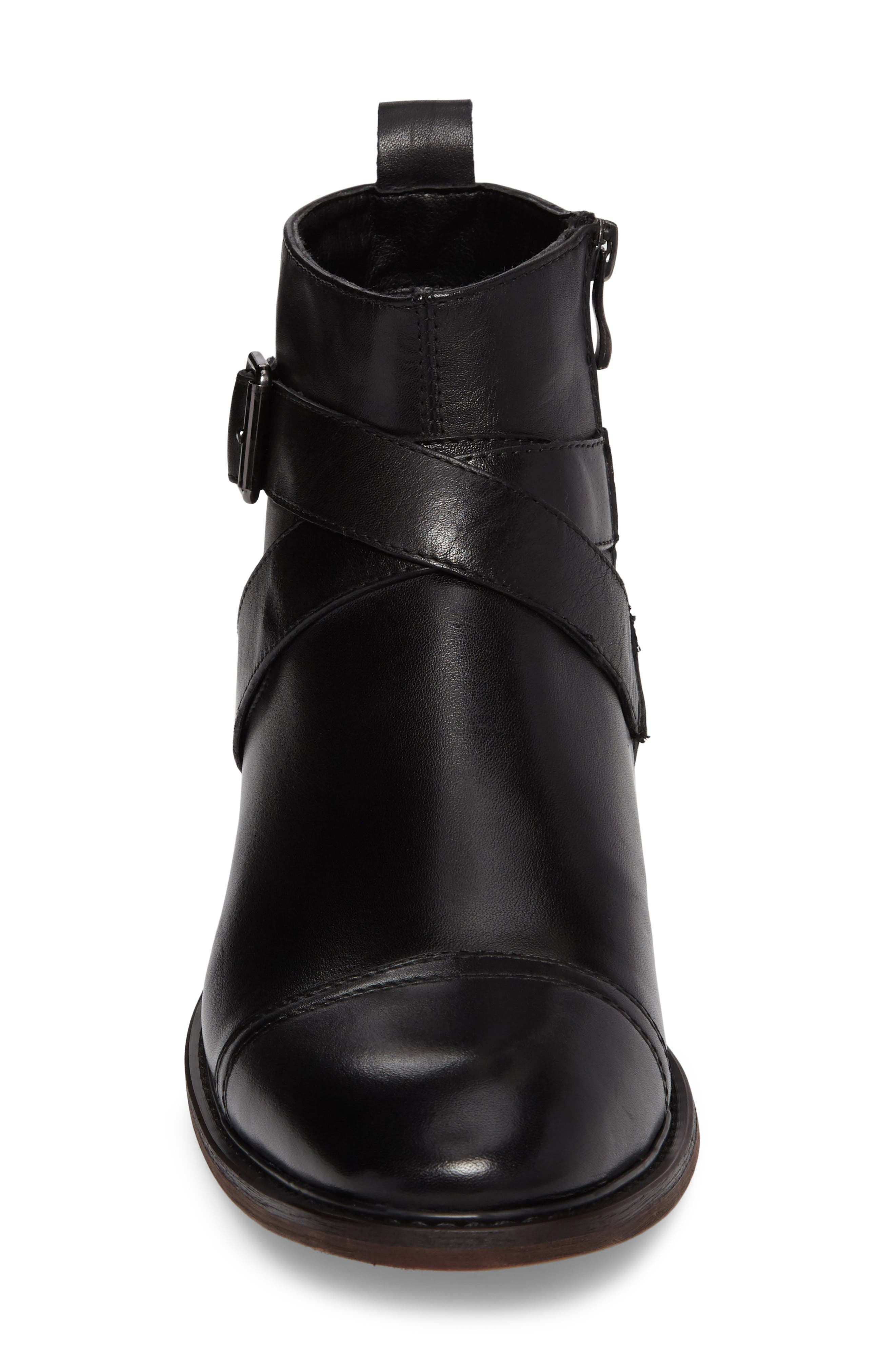 Edmond Zip Boot,                             Alternate thumbnail 4, color,                             Black Leather