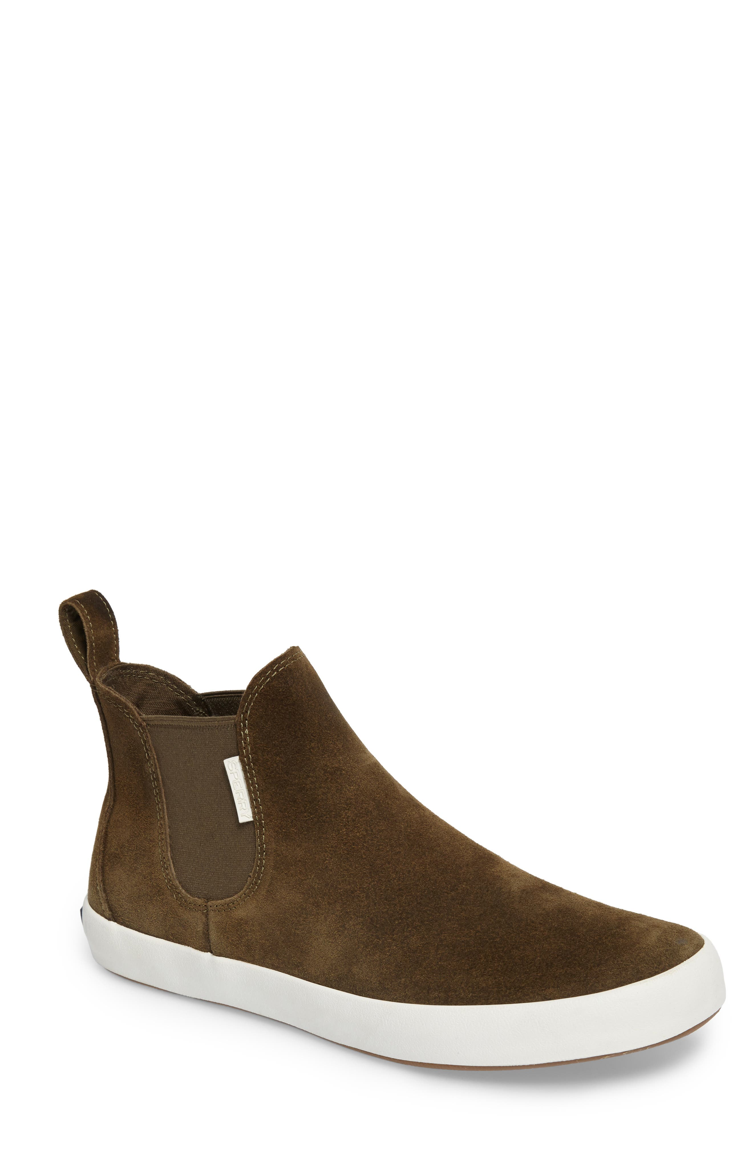 Wahoo Chelsea Sneaker Boot,                             Main thumbnail 1, color,                             Olive Leather