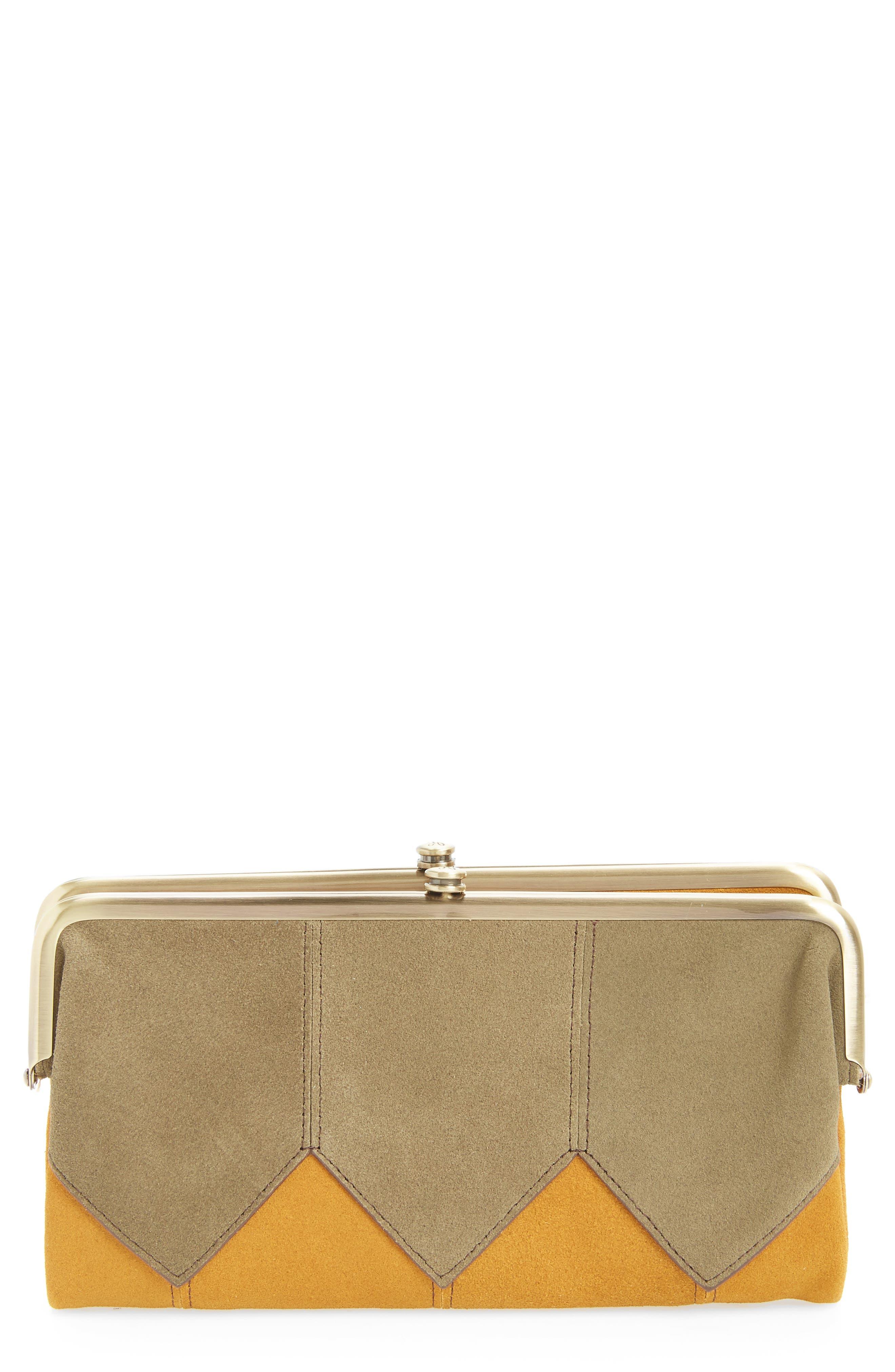Hobo Lauren Colorblock Calfskin Leather Wallet