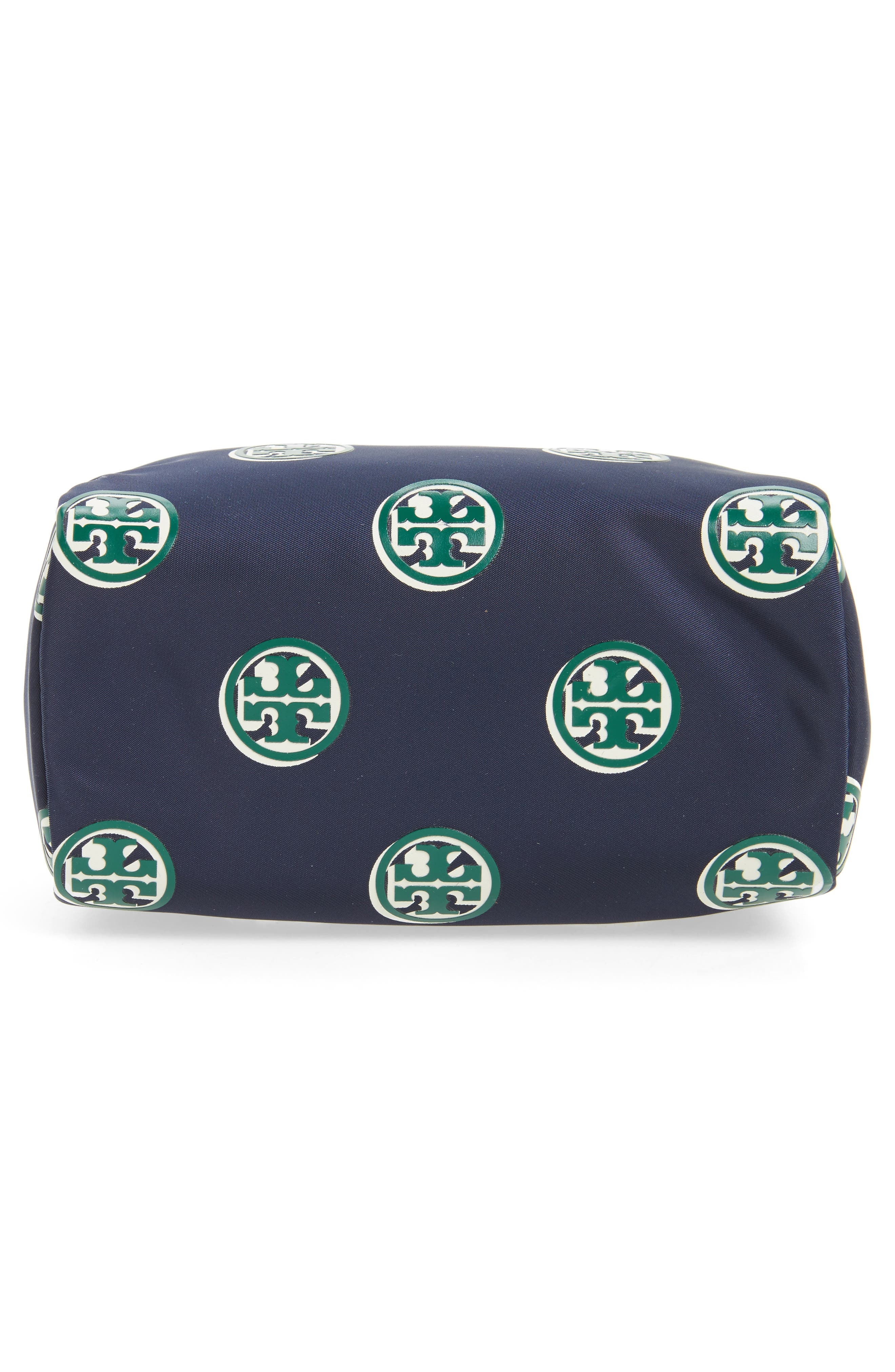 Quinn Printed Brigitte Cosmetics Case,                             Alternate thumbnail 5, color,                             Geo Print Navy