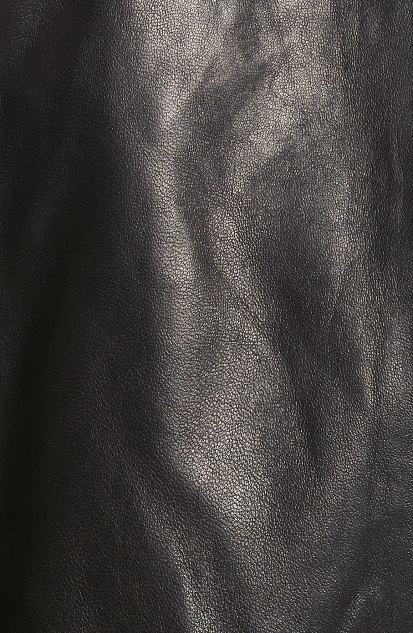 Alternate Image 5  - Derica Leather Jacket