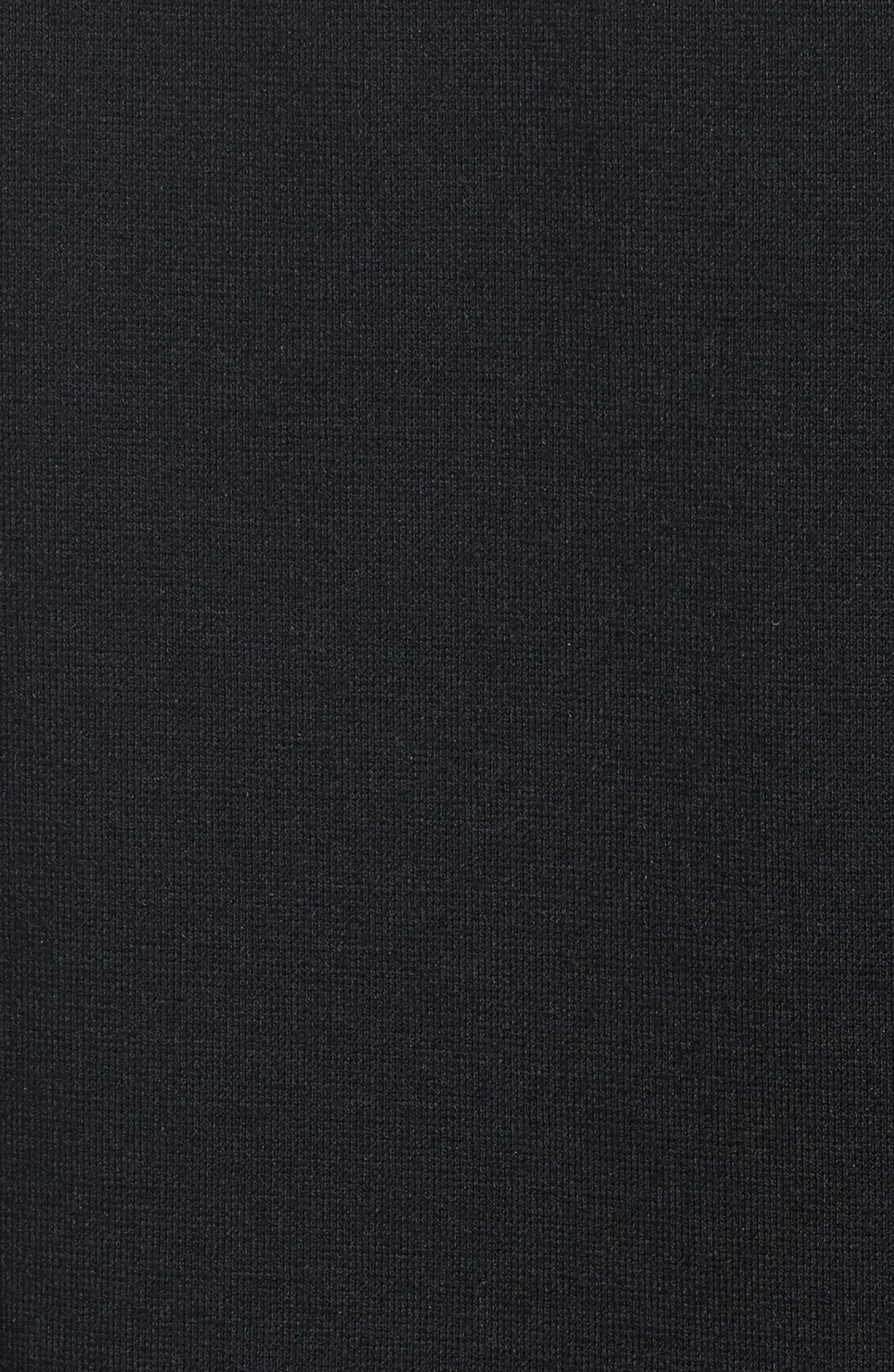 Lace Side Leggings,                             Alternate thumbnail 5, color,                             Black