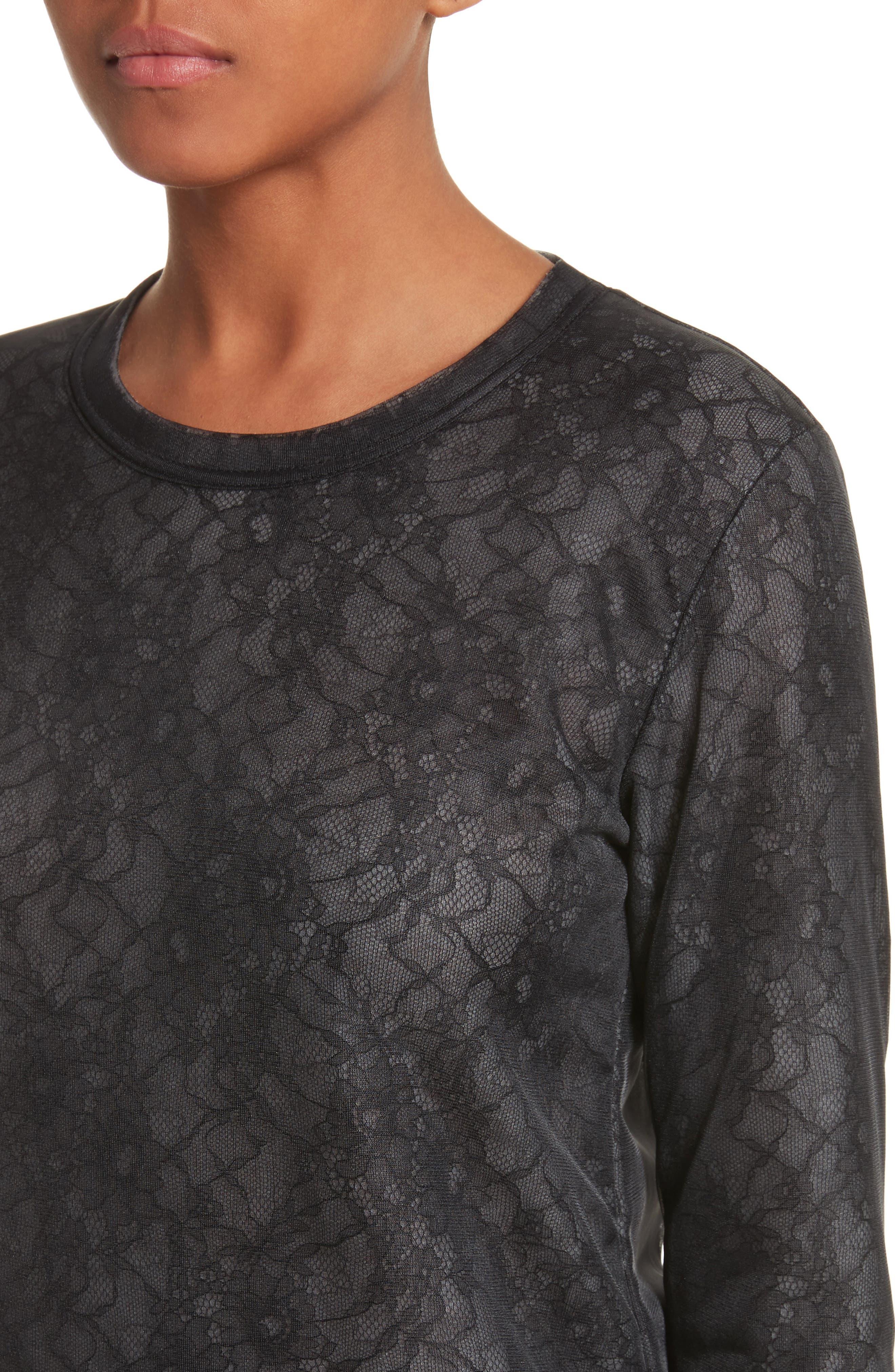 Lace Top,                             Alternate thumbnail 4, color,                             Black