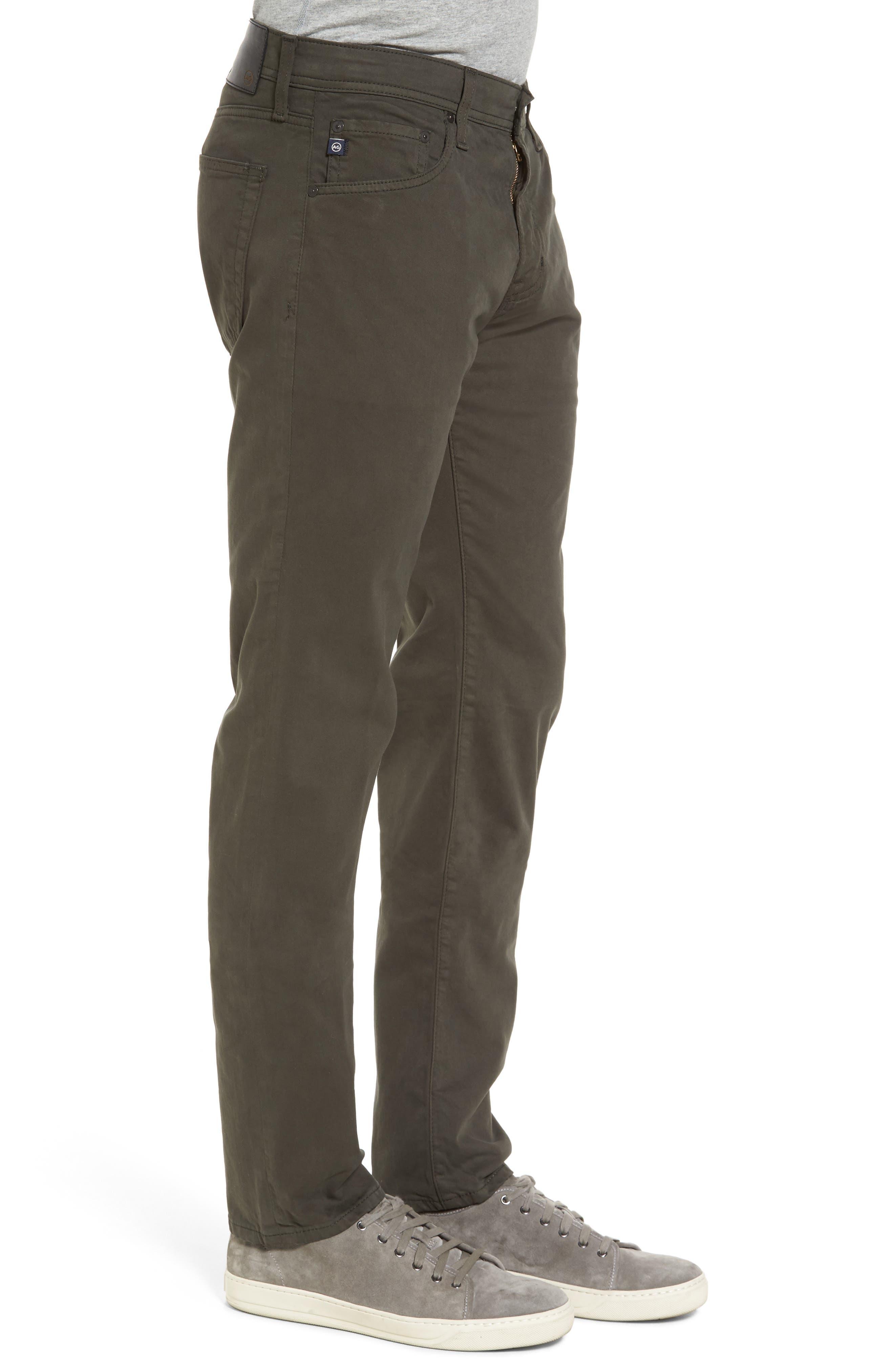 Tellis SUD Modern Slim Stretch Twill Pants,                             Alternate thumbnail 3, color,                             Green Forest