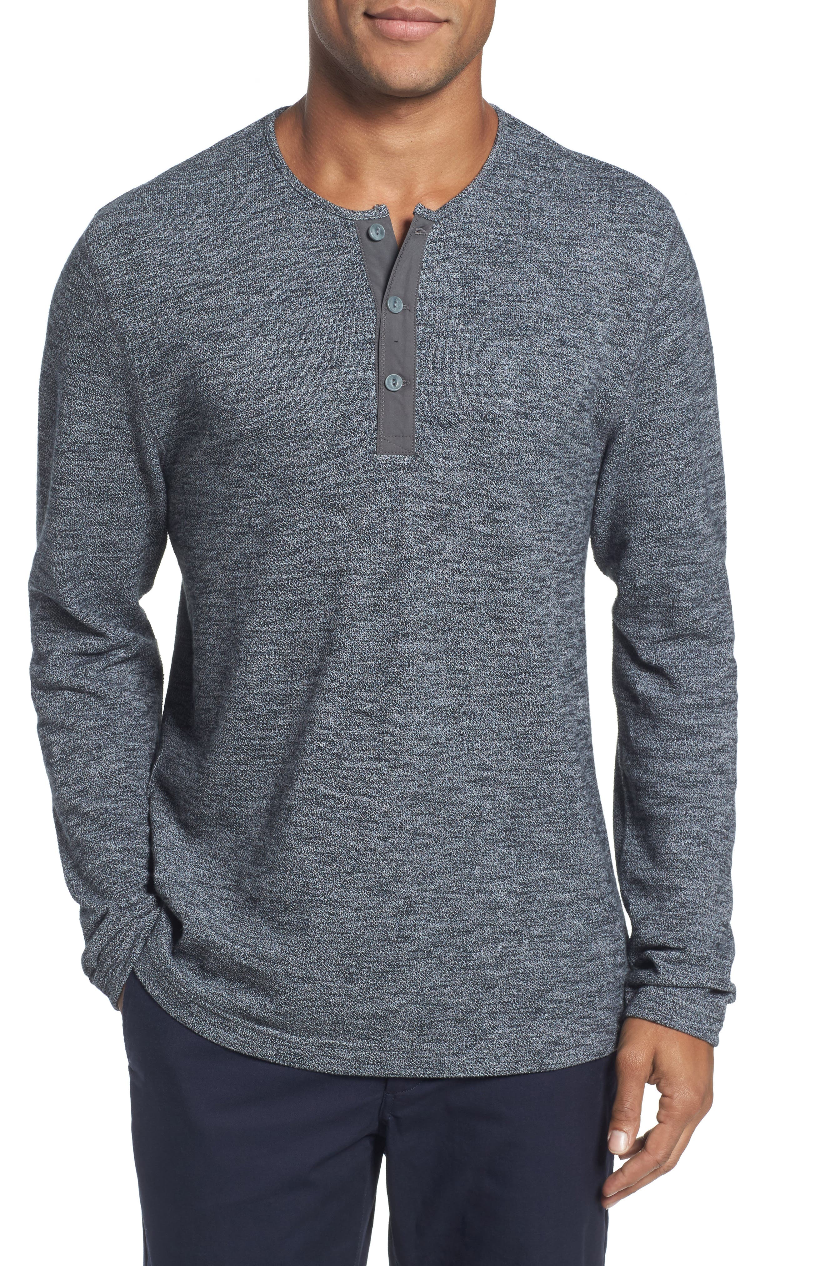 Main Image - Nordstrom Men's Shop Hacci Knit Henley (Tall)