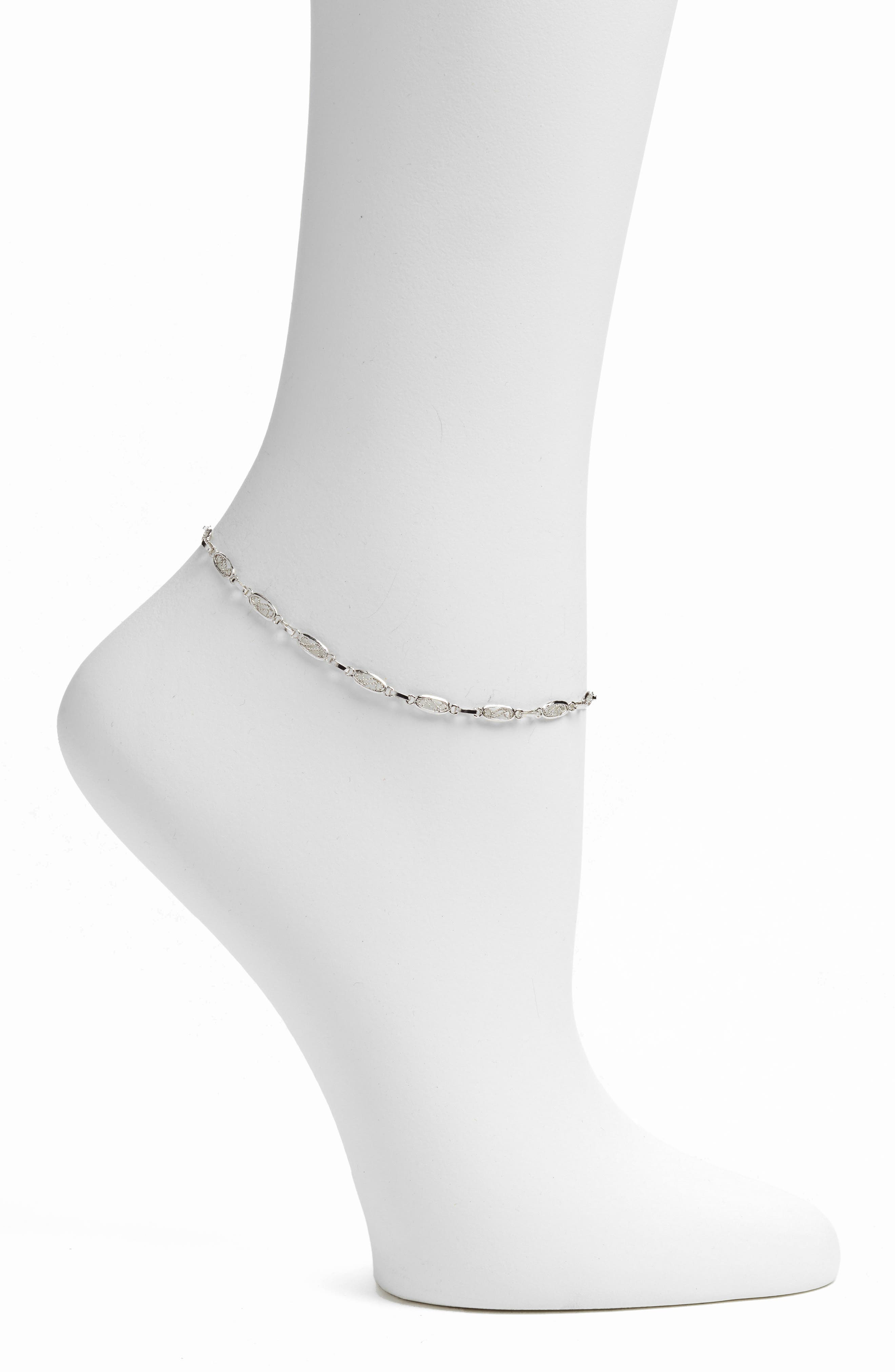 Javy Anklet,                         Main,                         color, Silver