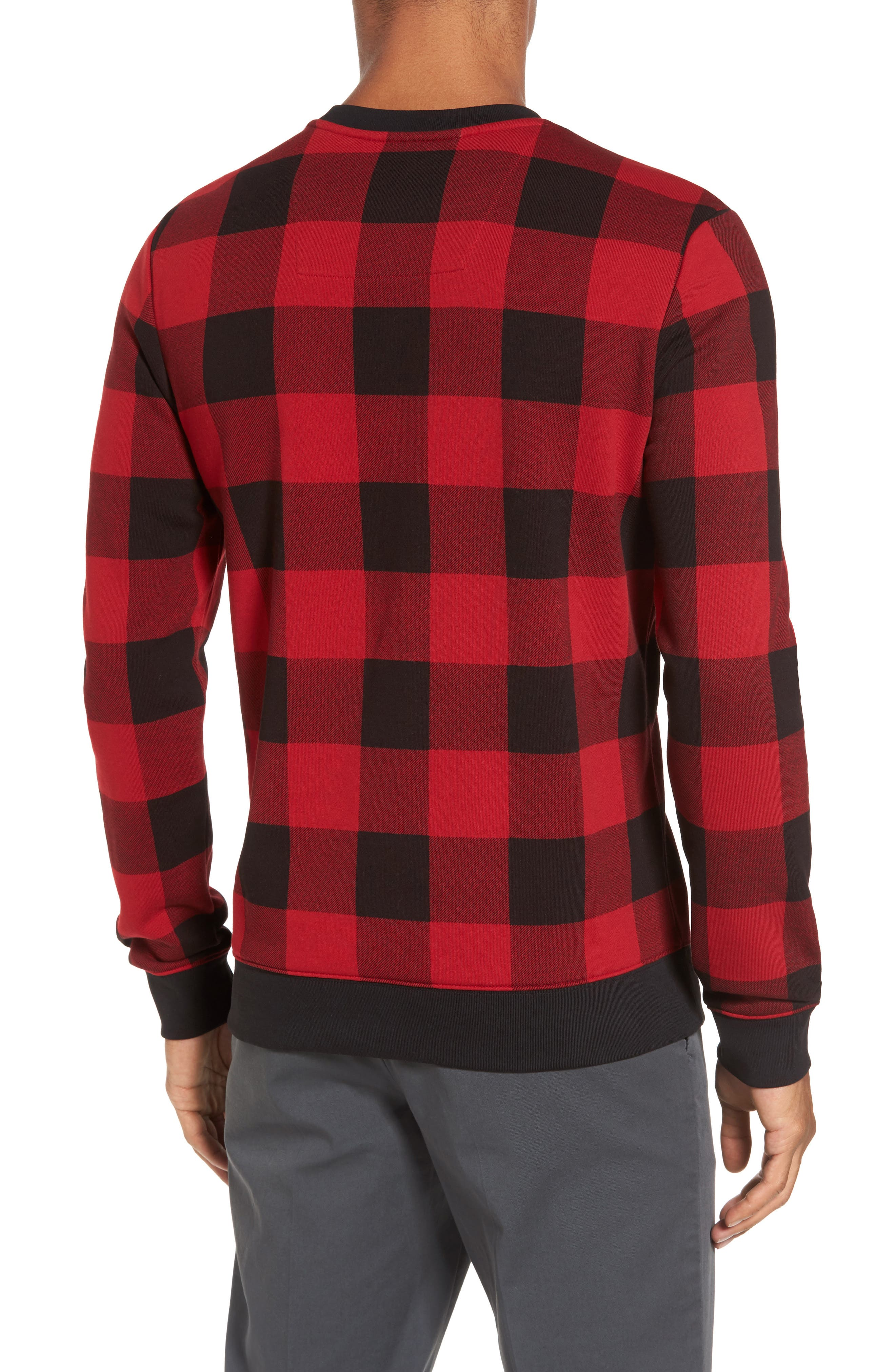 Skubic Check Slim Fit Sweater,                             Alternate thumbnail 2, color,                             Red