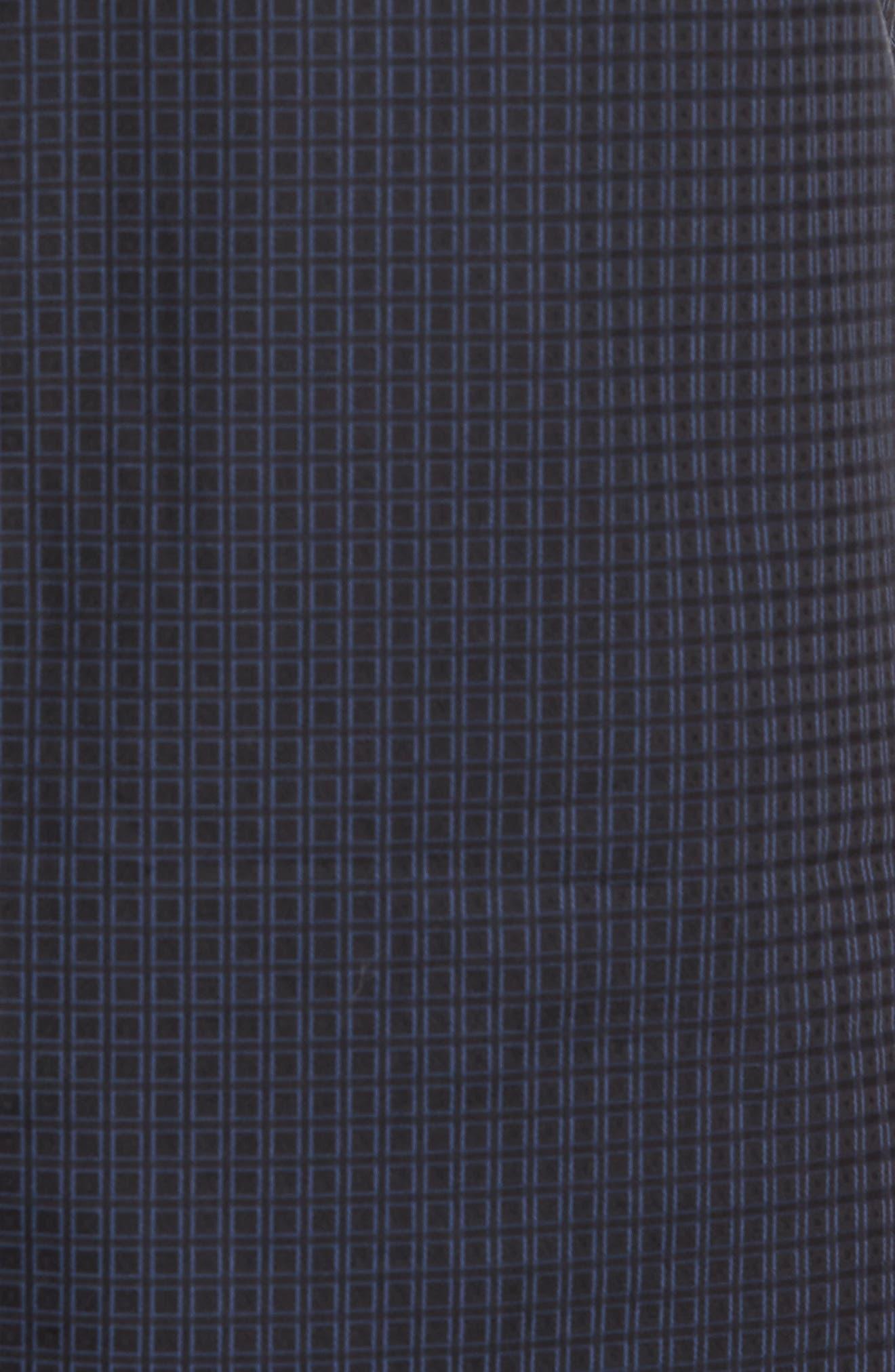 Trim Fit Box Print Sport Shirt,                             Alternate thumbnail 5, color,                             Black