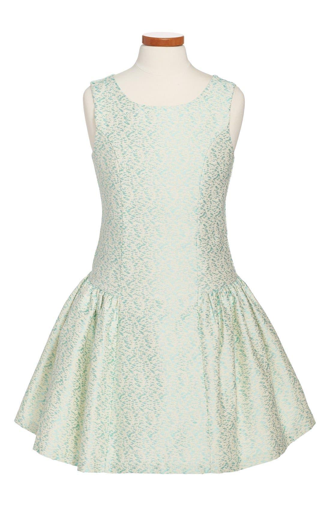 Alternate Image 1 Selected - Iris & Ivy Sleeveless Brocade Dress (Big Girls)