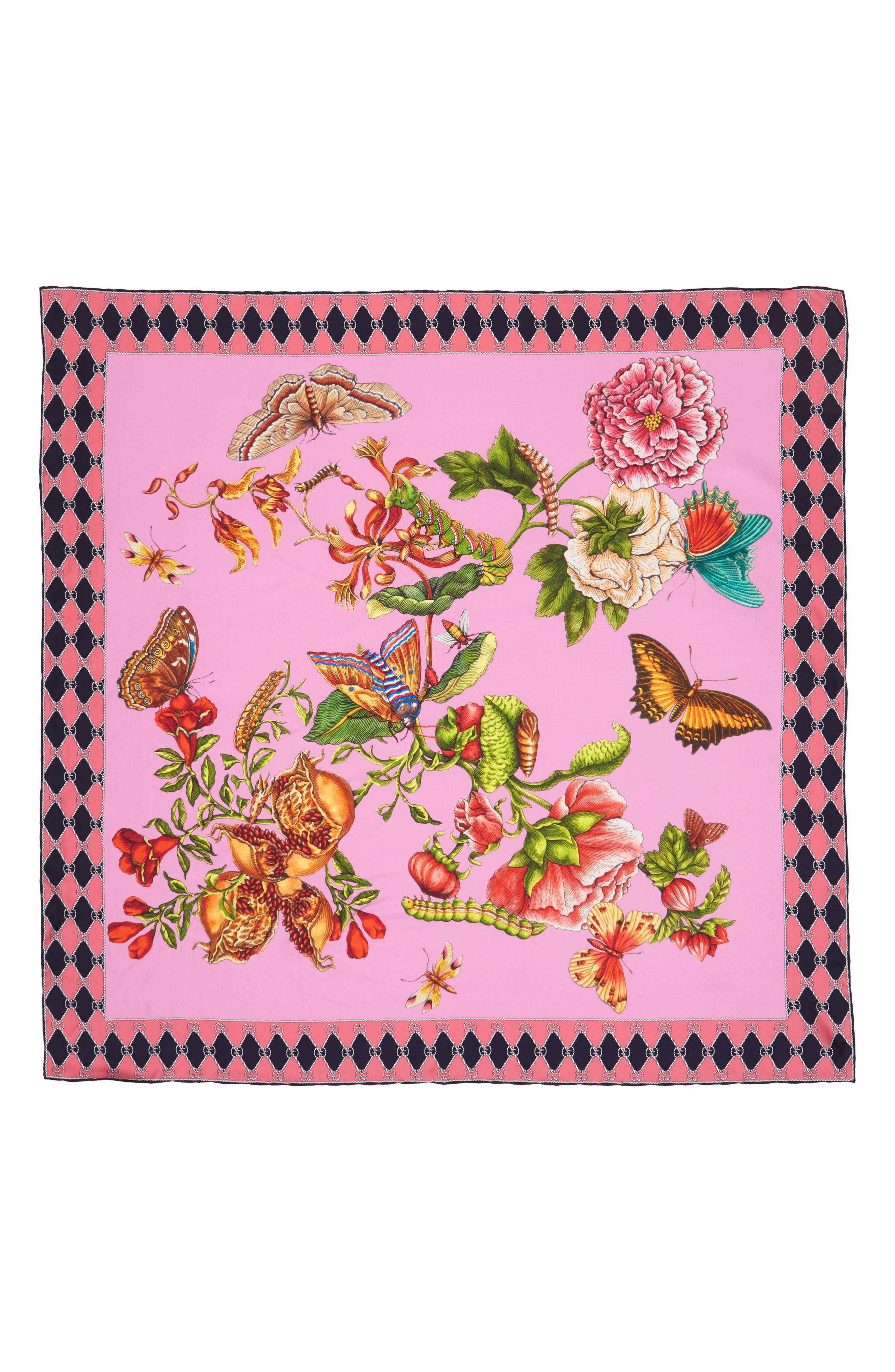Alternate Image 1 Selected - Gucci Foulard Chane Bouquet Silk Scarf