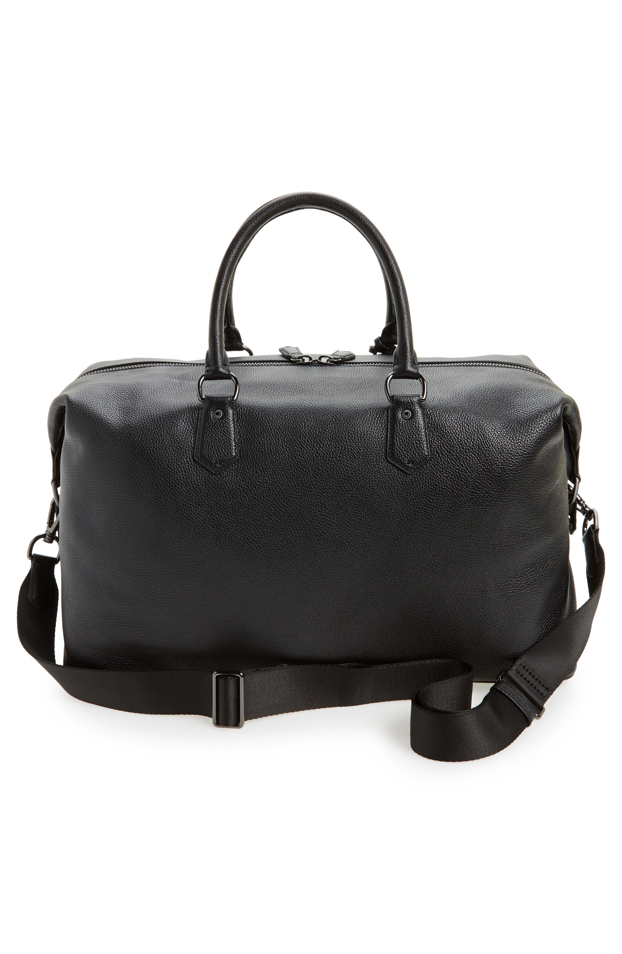 Alternate Image 2  - Polo Ralph Lauren Pebbled Leather Duffel Bag