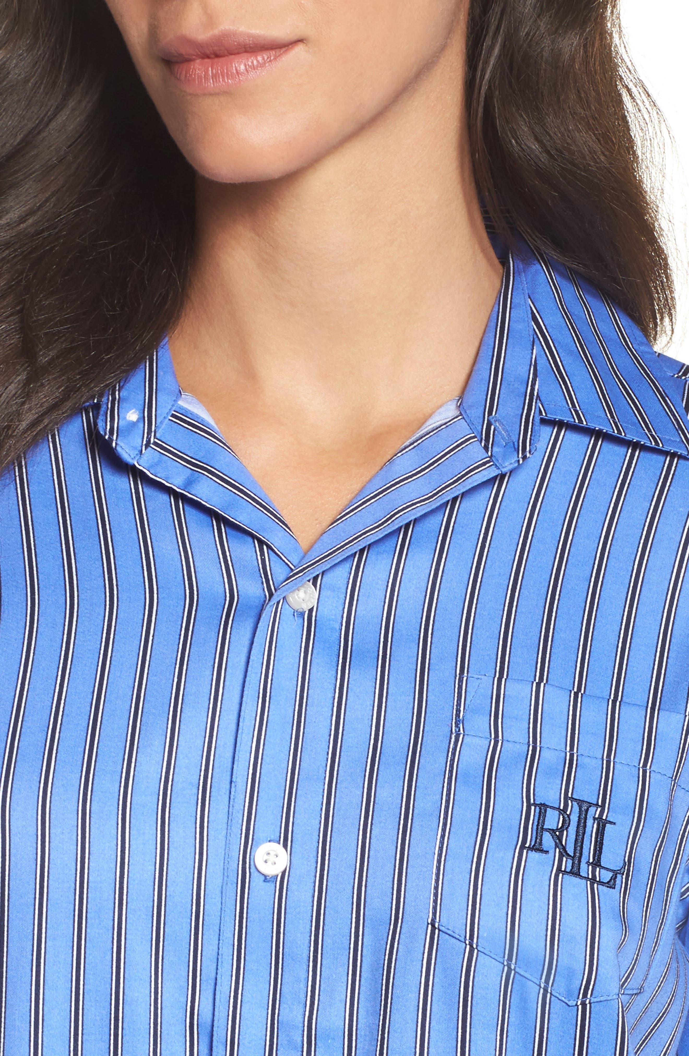 Alternate Image 5  - Lauren by Ralph Lauren Paisley Sleep Shirt