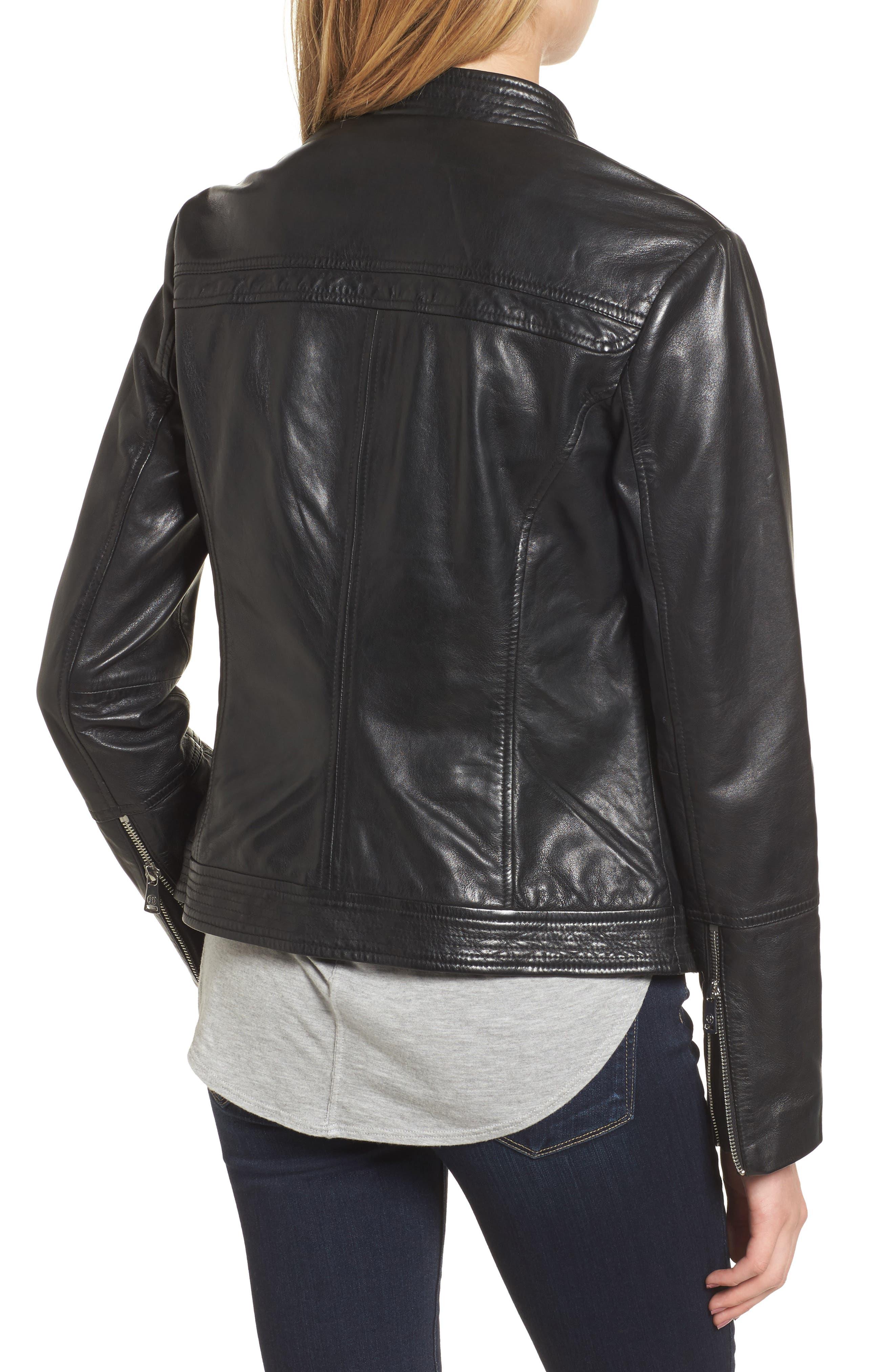 Alternate Image 2  - Bernardo Leather Moto Jacket