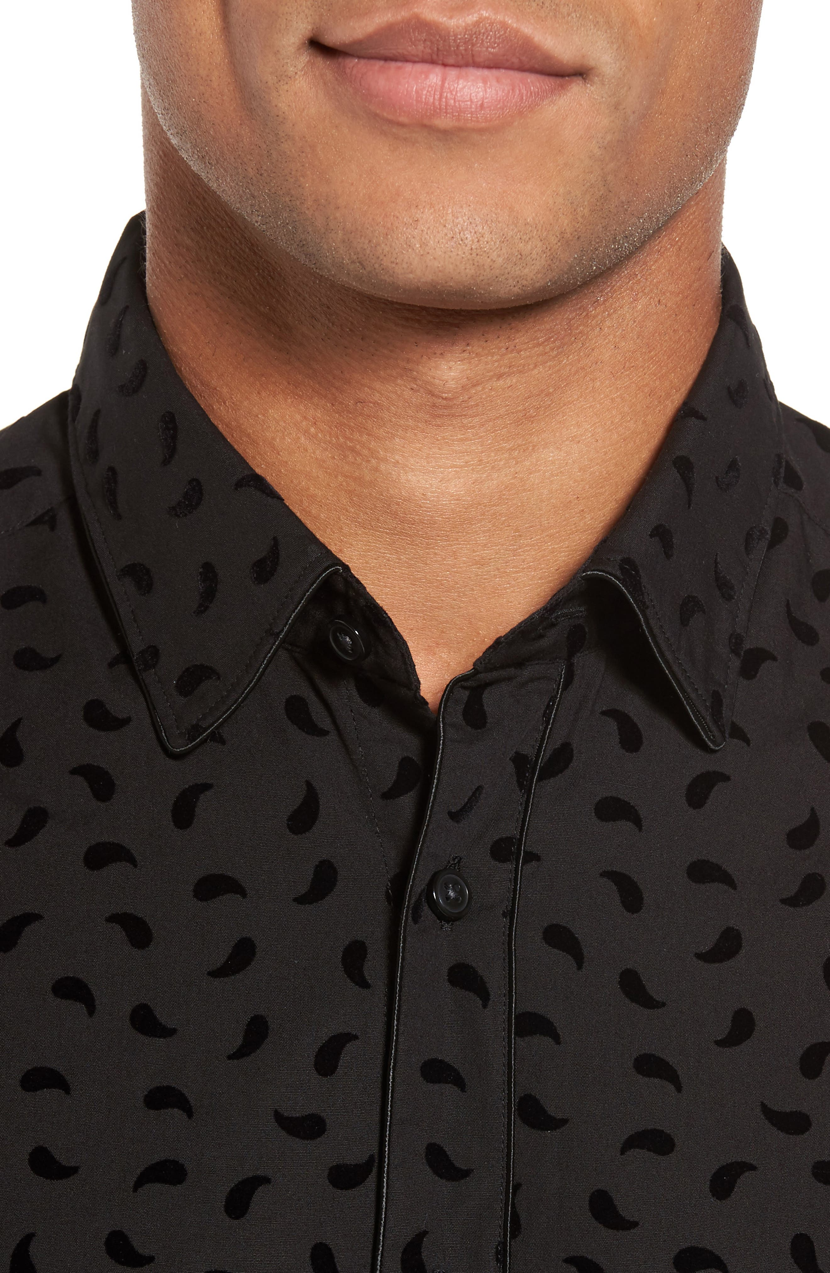 Alternate Image 4  - BOSS Leandro Paisley Sport Shirt