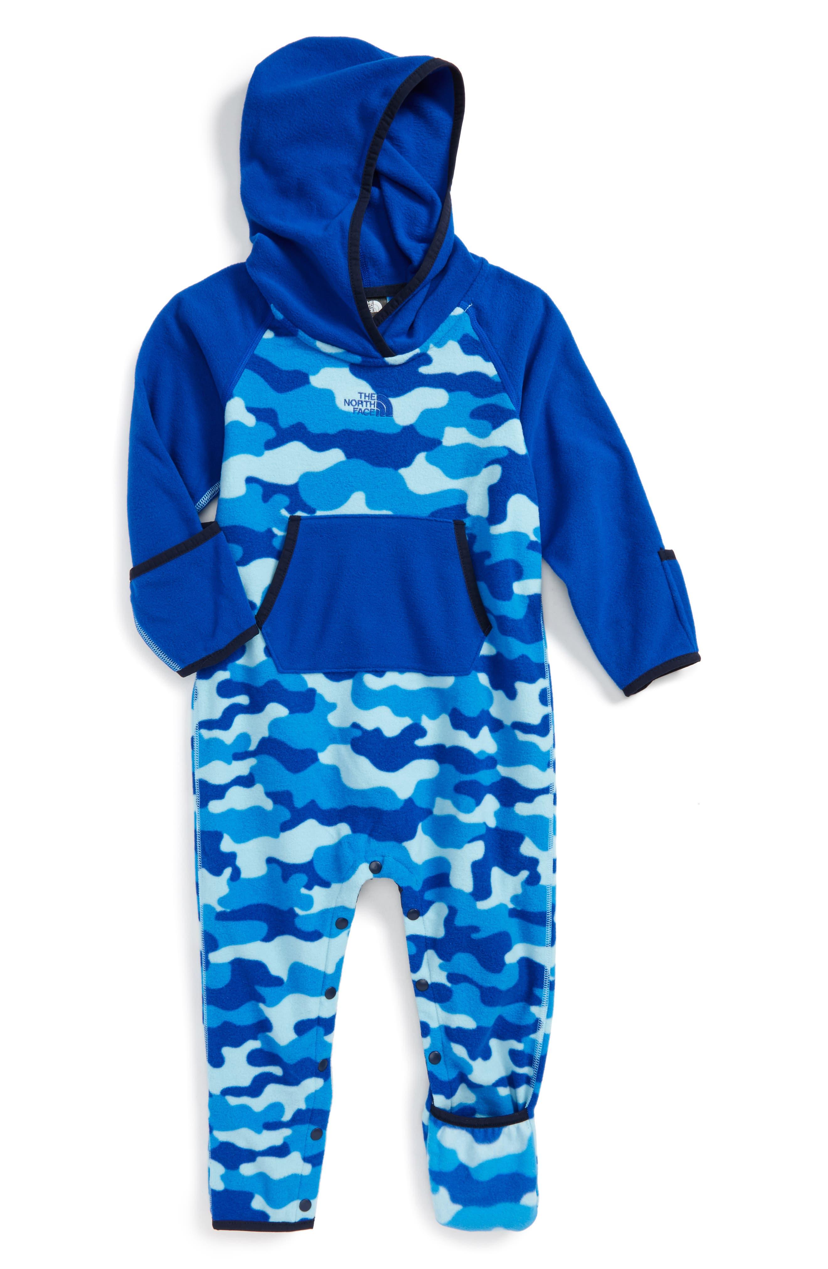 The North Face 'Glacier' One-Piece (Baby Boys) (Regular Retail Price: $50.00)