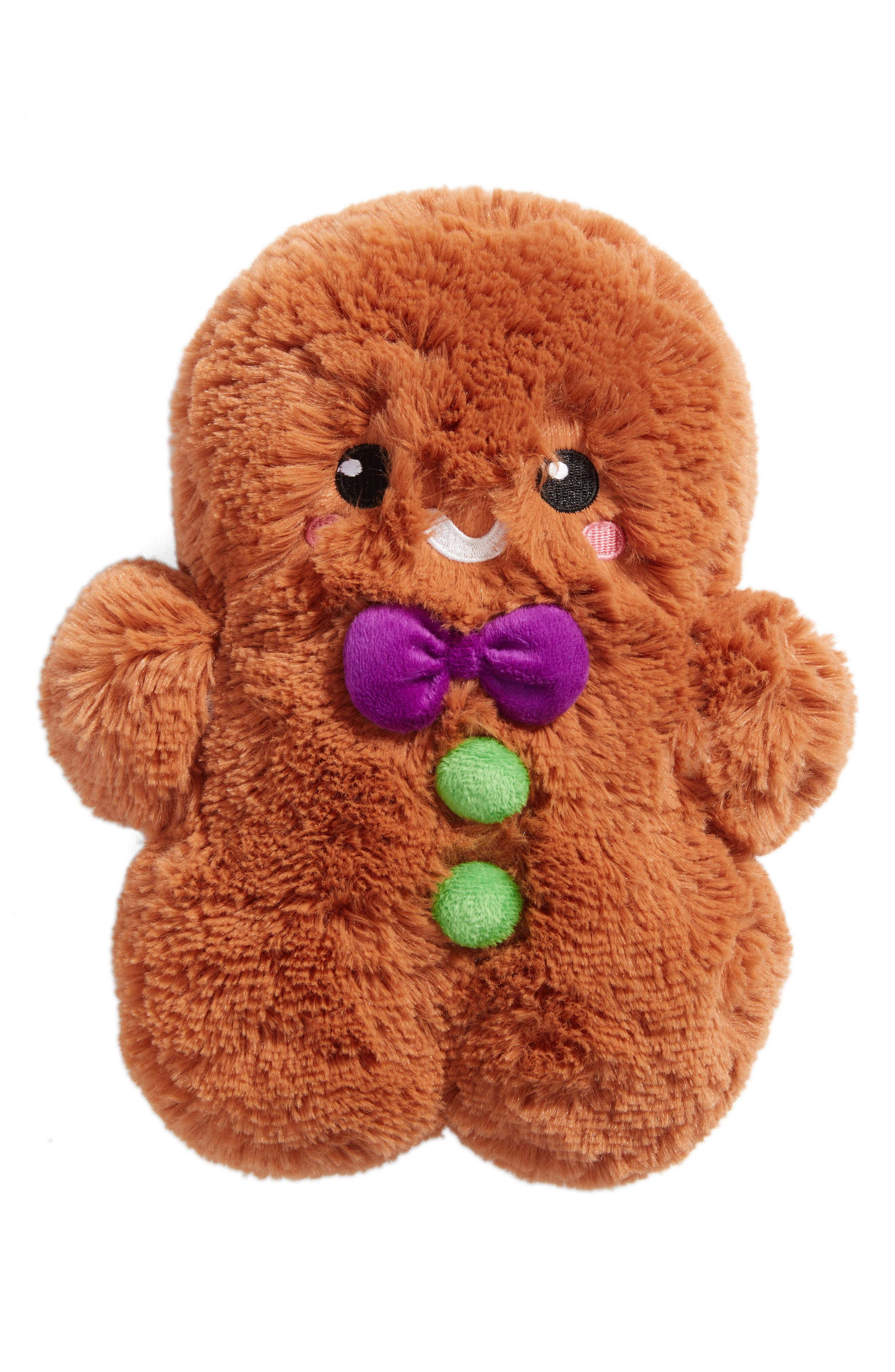 Mini Gingerbread Man Stuffed Toy,                         Main,                         color, Brown