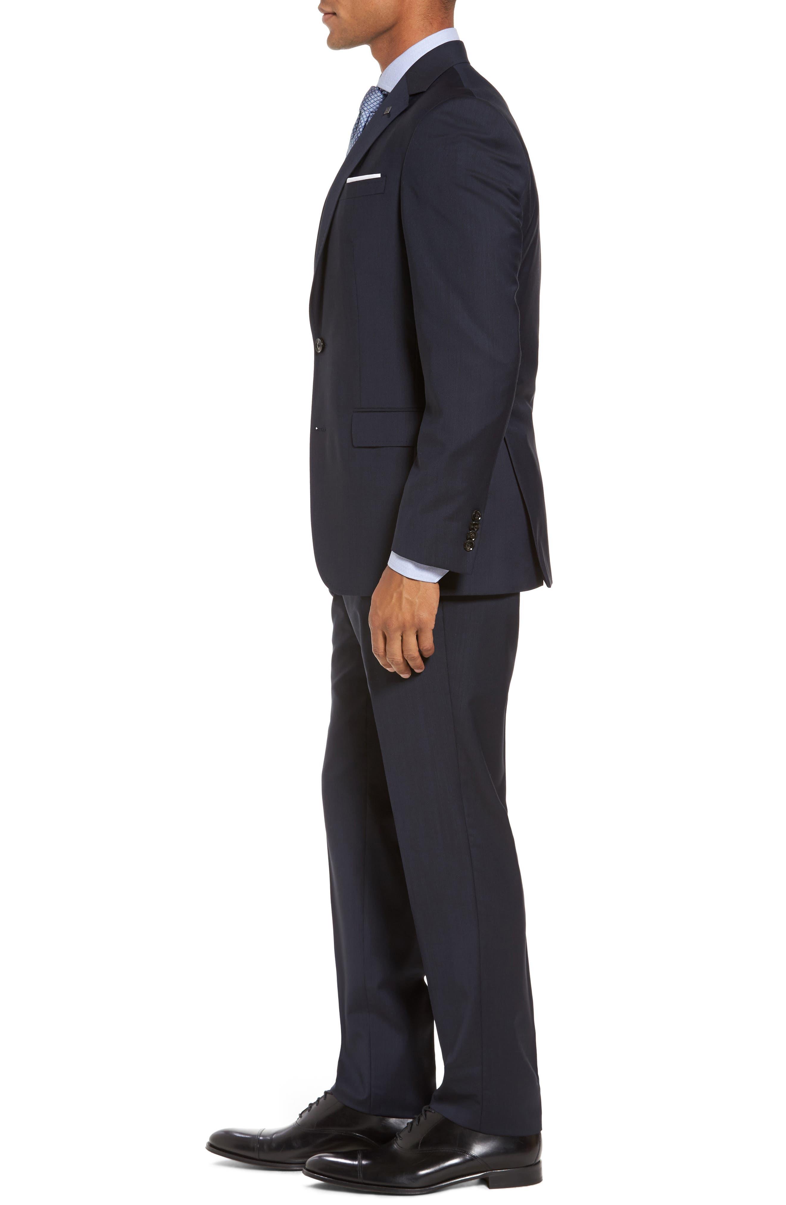 Alternate Image 3  - Ted Baker London Trim Fit Solid Wool Suit